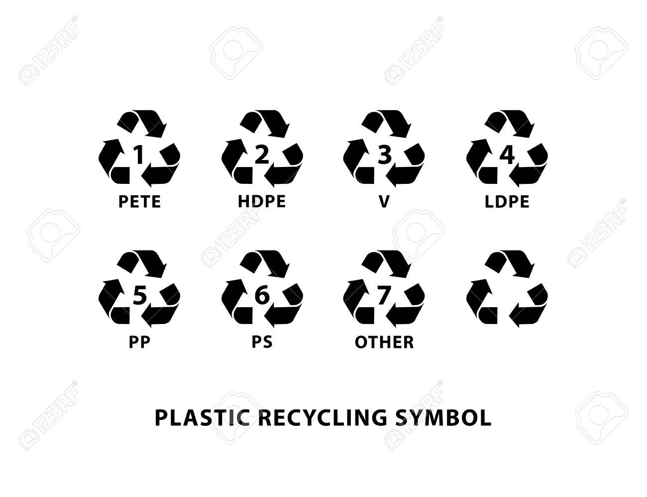Plastic recycling symbol set icon vector illustration on white plastic recycling symbol set icon vector illustration on white background stock vector 81814908 buycottarizona