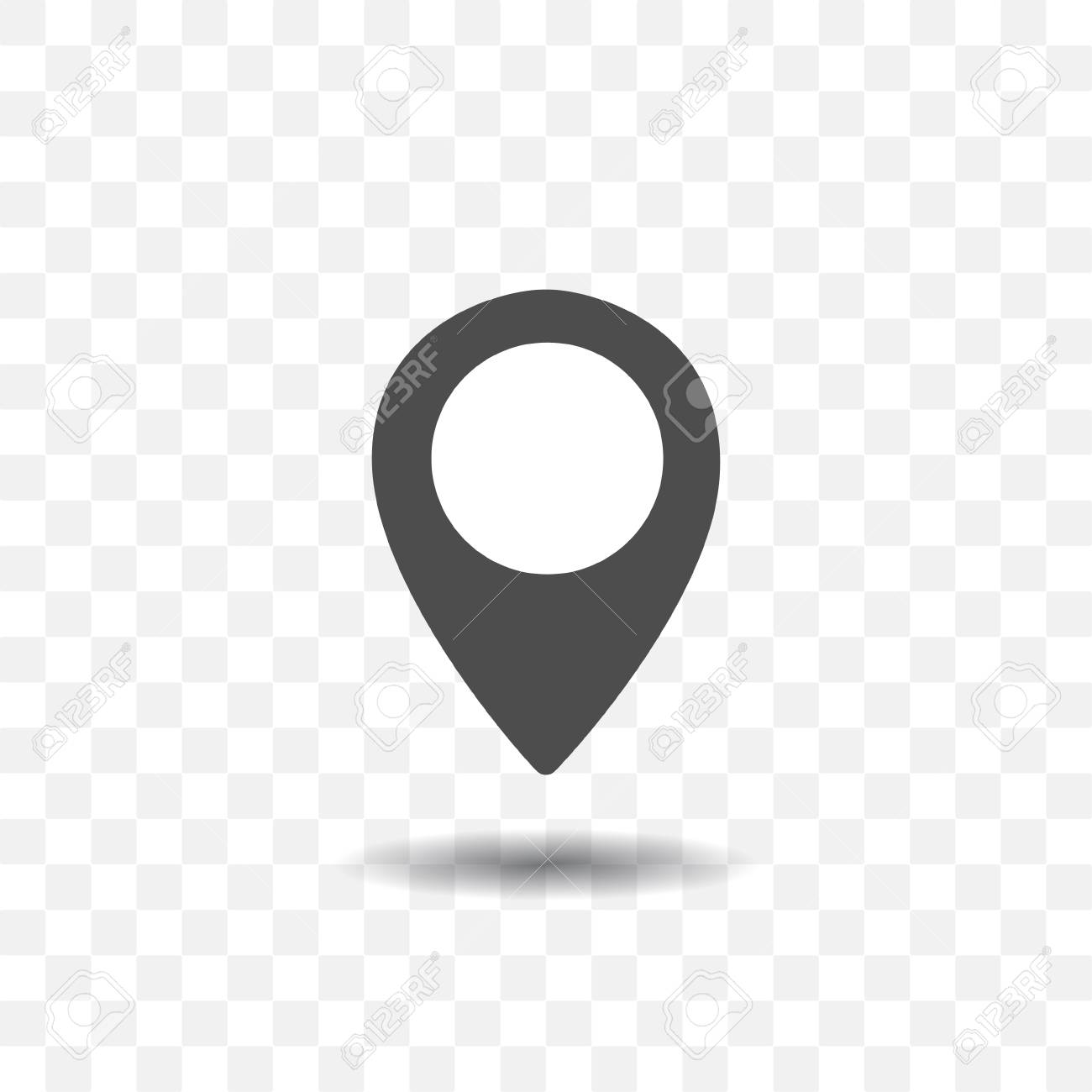 map location pointer icon with shadow on transparent background royalty free cliparts vectors and stock illustration image 95040771 map location pointer icon with shadow on transparent background