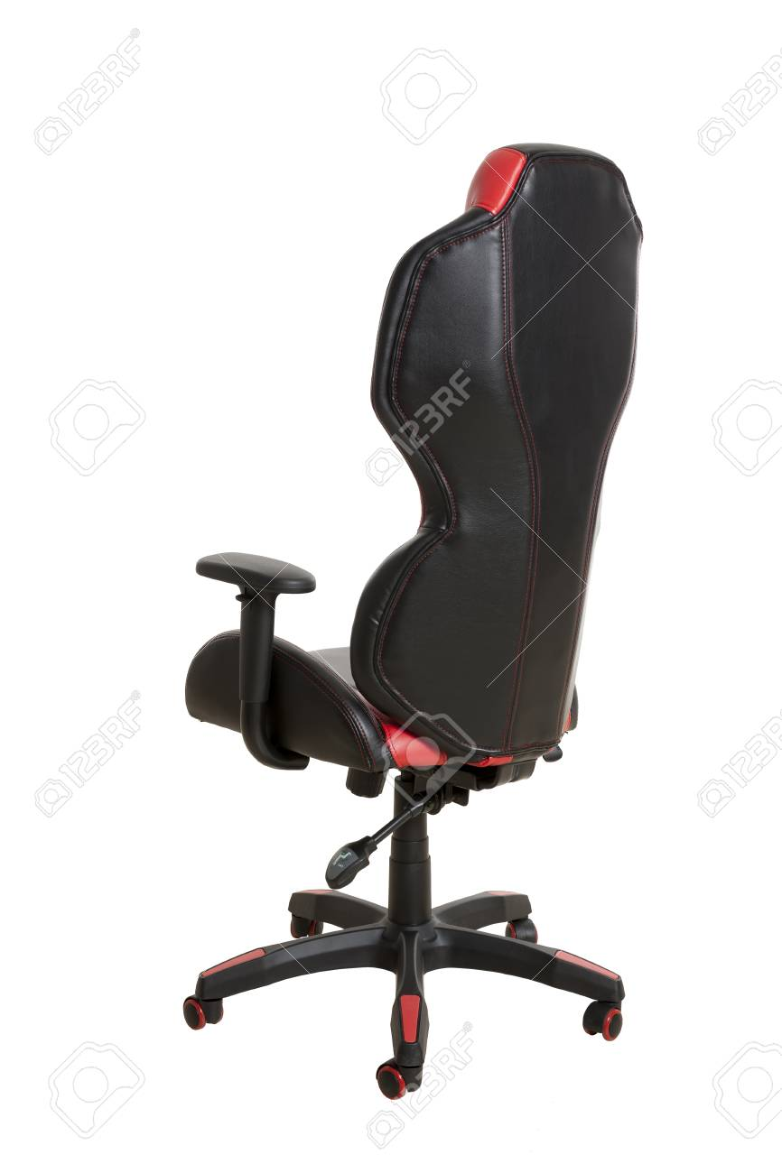 Swell Back View Of A Modern Office Chair Upholstered In A Black And Interior Design Ideas Gentotryabchikinfo