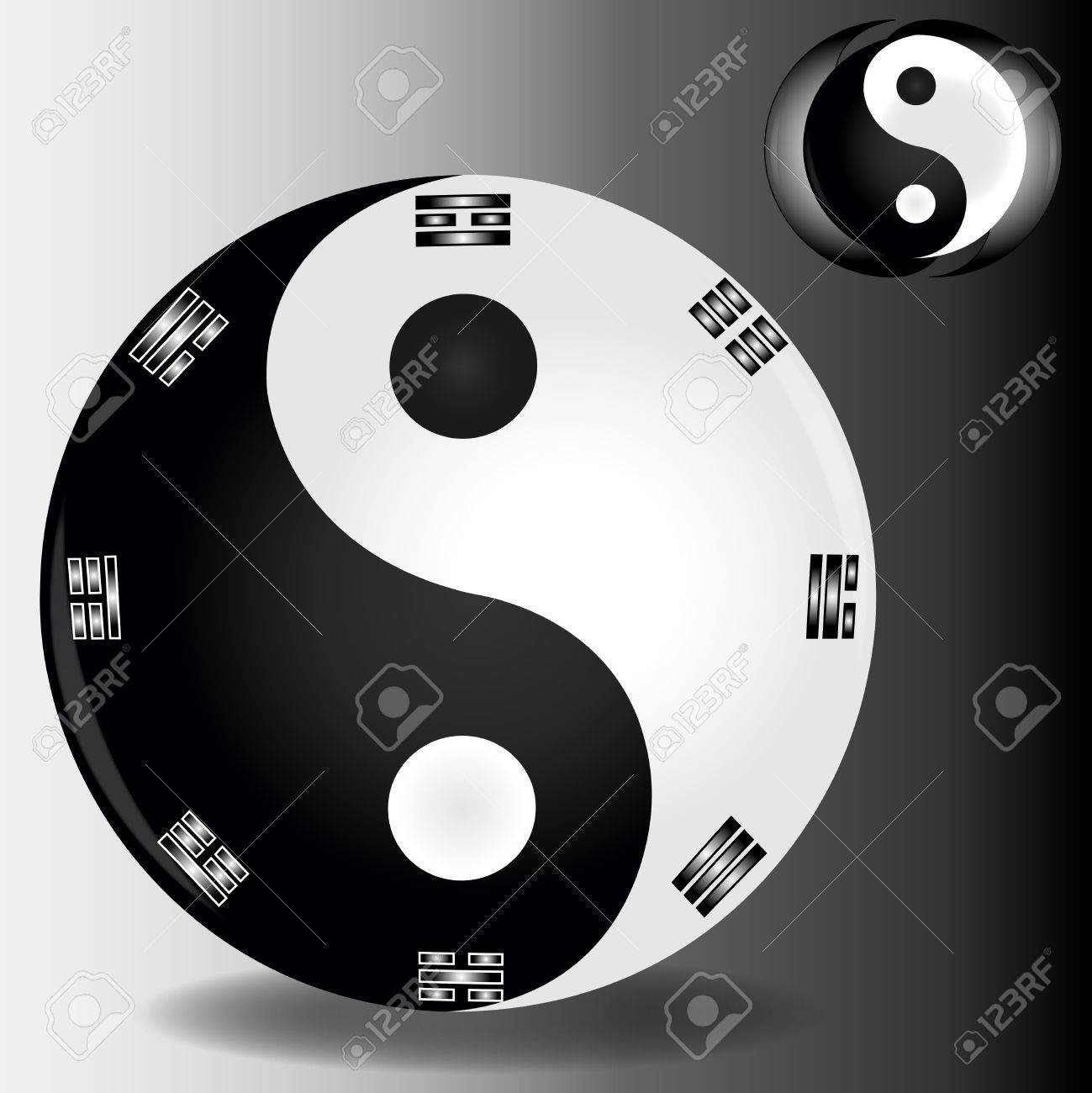 harmony sign Ying and YANG as symbol of balance of the Universe Stock Vector - 23863283