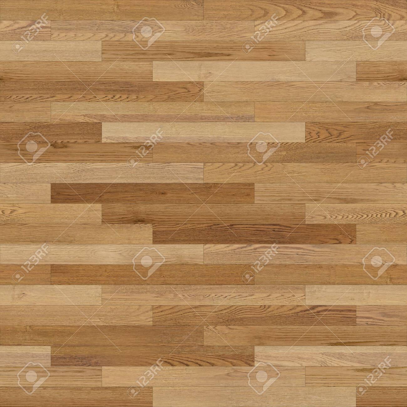 Seamless wood parquet texture (linear light brown) - 126240152
