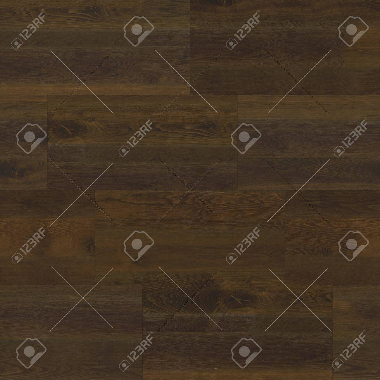 Seamless wood parquet texture linear dark brown - 126240188