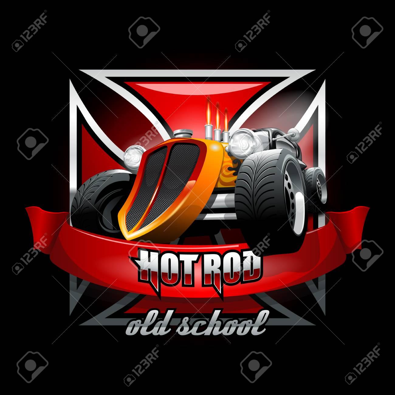 Iron Cross Hot Rod Logo Mockup  Layered and editable