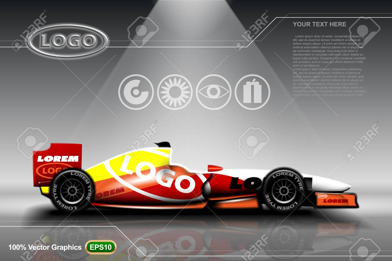 Racing car template EPS 10 Vector graphics  Layered and editable