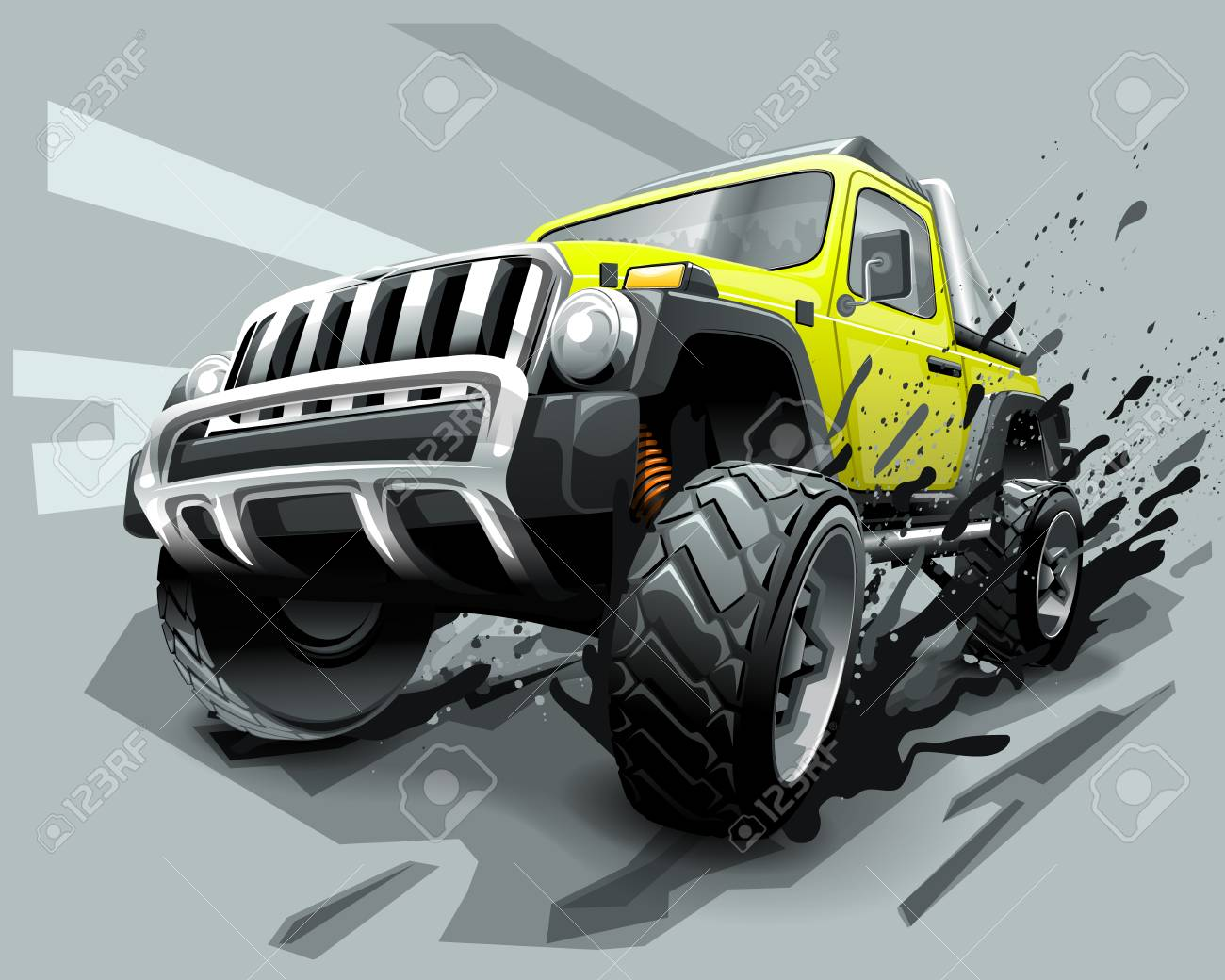 Extreme Off Road Vehicle SUV, dirt and bad weather - 105539251