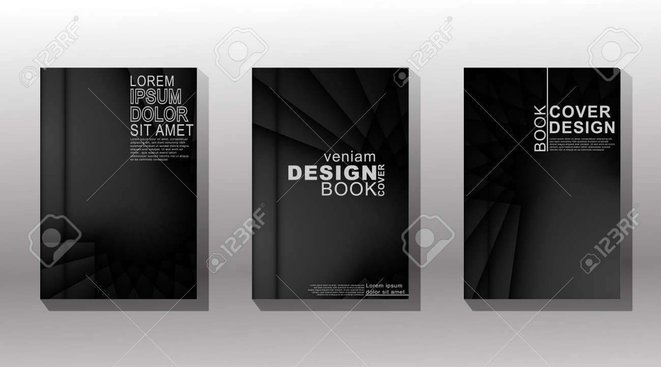 Minimal cover design. overlap shape with shadow and shiny light . vector illustration - 136635851