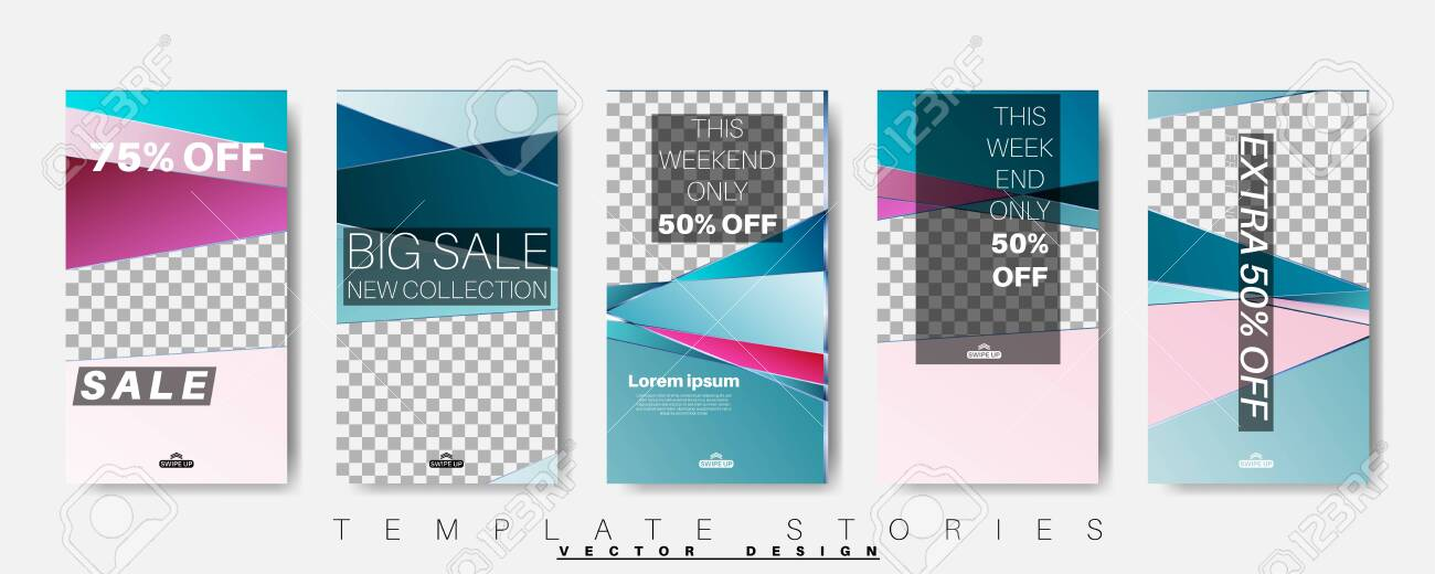 Geometric Shape Banner Template That Can Be Edited For Social Royalty Free Cliparts Vectors And Stock Illustration Image 142389159