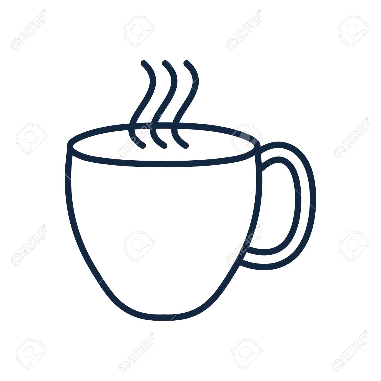 Tea Cup Doodle Line Style Icon Design Ornament Sketch Art Drawing Royalty Free Cliparts Vectors And Stock Illustration Image 141472268