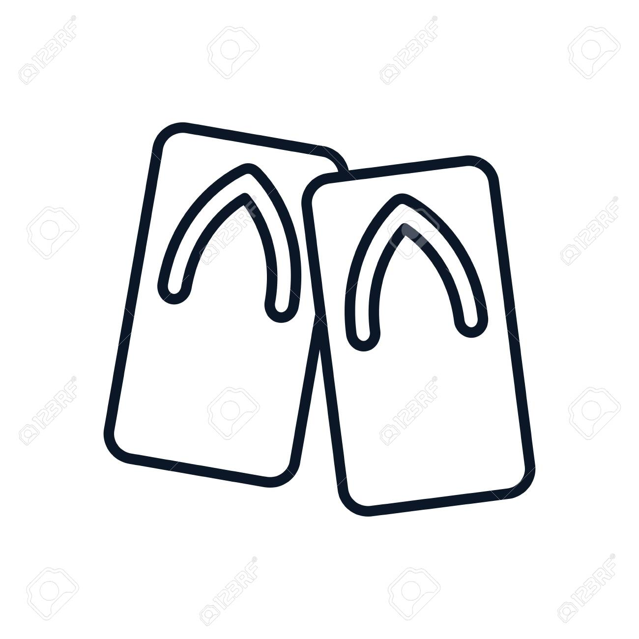 japanese traditional shoes isolated icon vector illustration design - 148386190