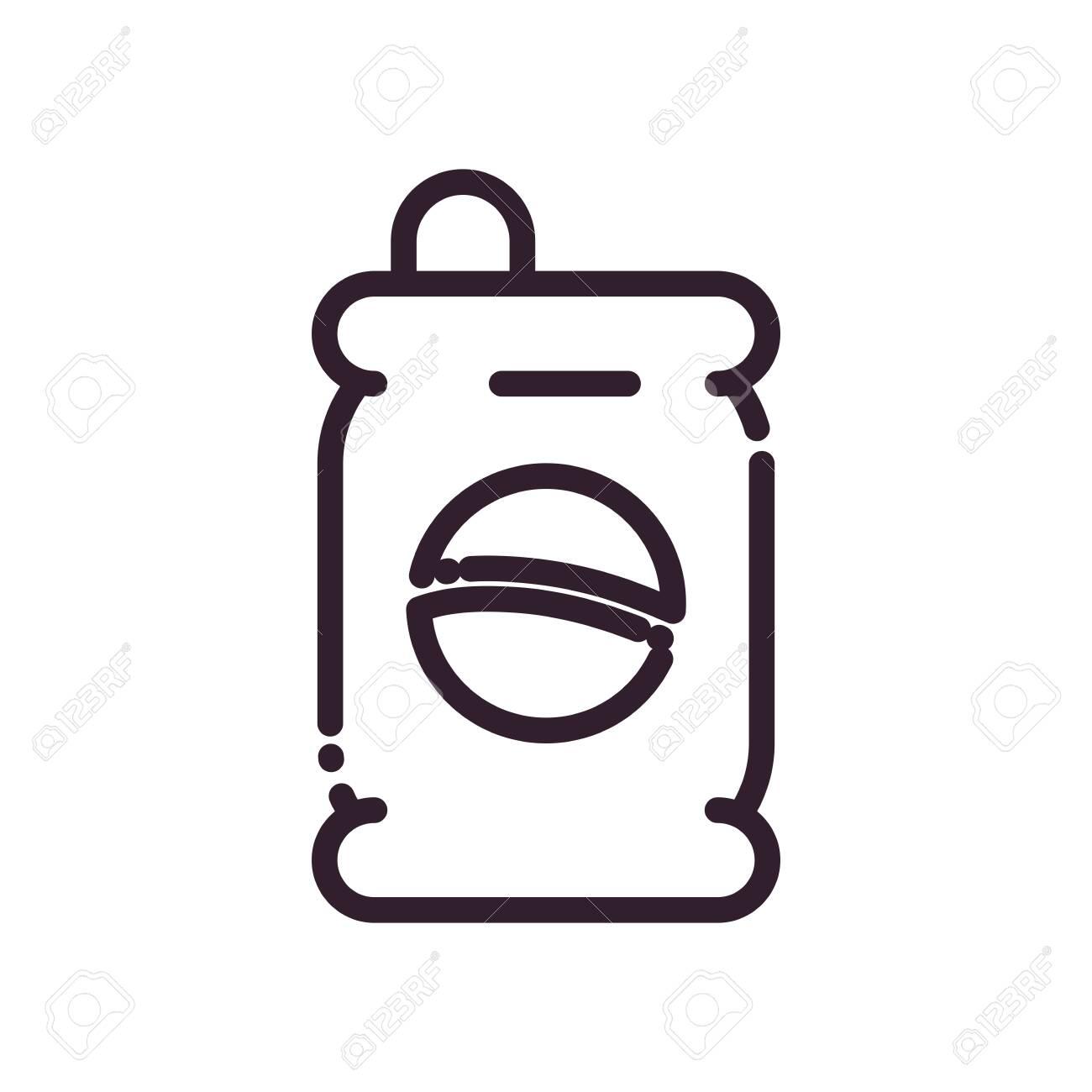Soda Can Drink Line Style Icon Design Beverage Liquid Menu Restaurant Lunch Refreshment Kitchen And Meal Theme Vector Illustration Ilustraciones Vectoriales Clip Art Vectorizado Libre De Derechos Image 149123028