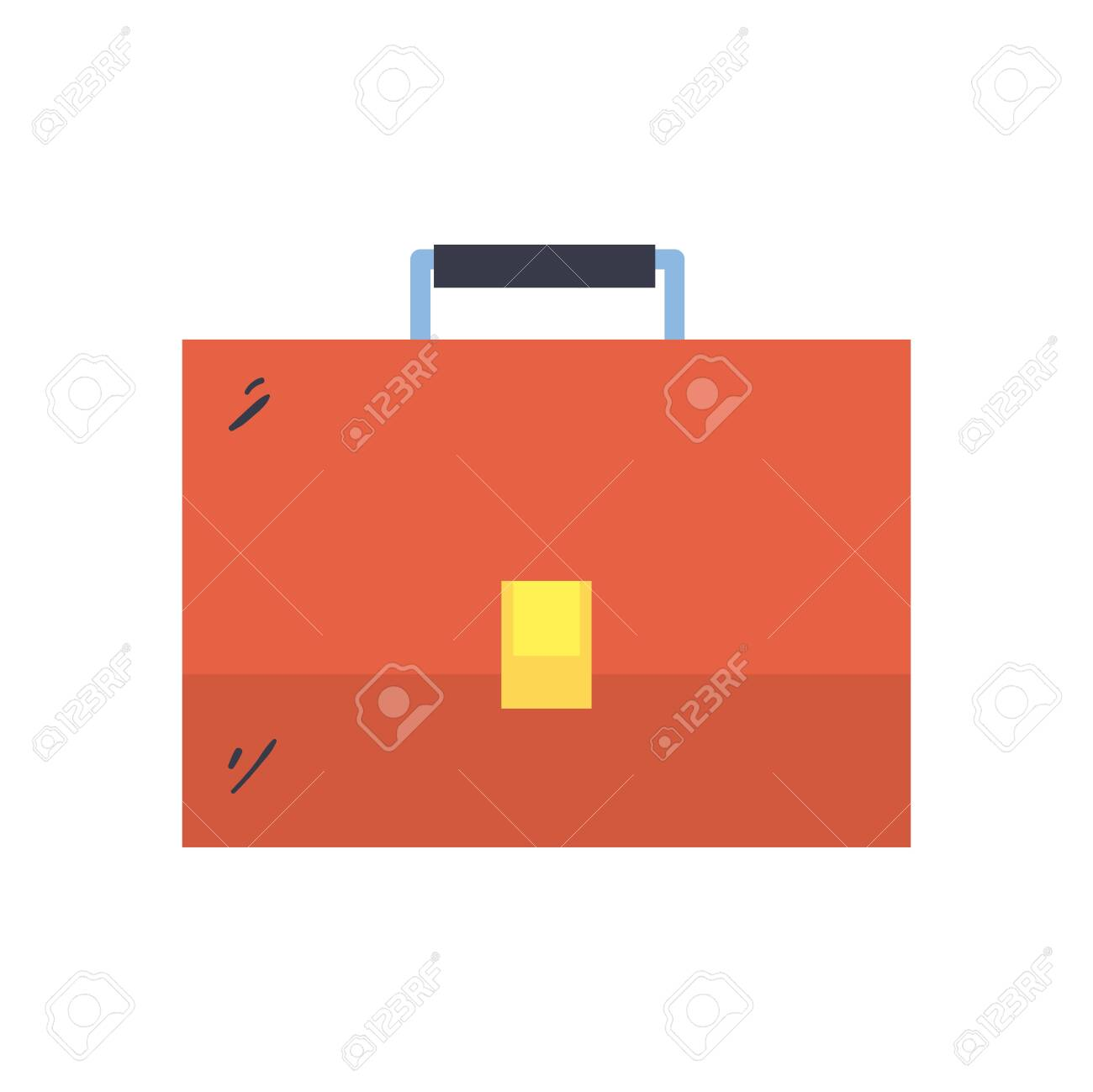 Suitcase bag line and fill style icon design, Case office school university travel baggage luggage handle leather and trip theme Vector illustration - 152777670