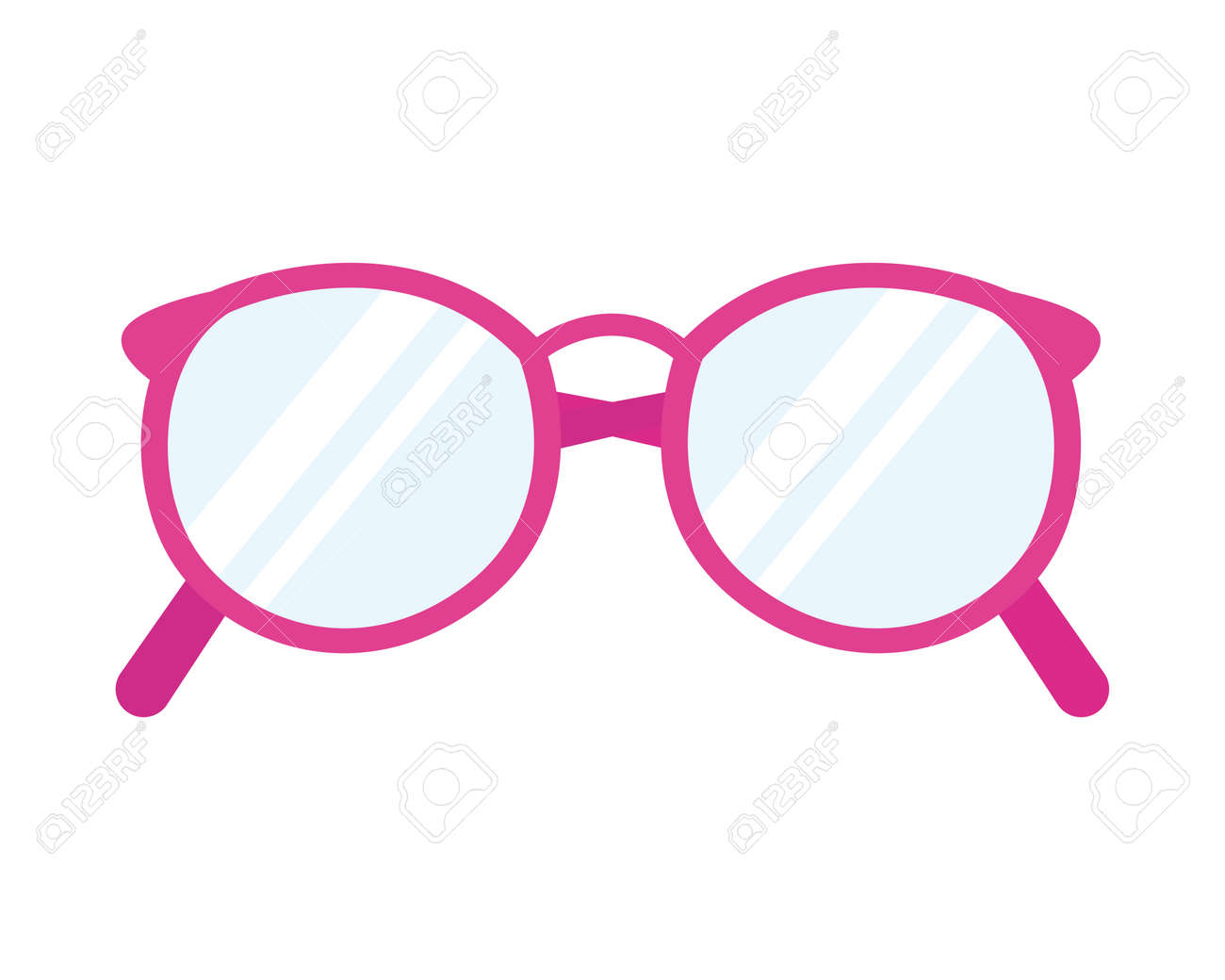 icon of pink round glasses - 165261538