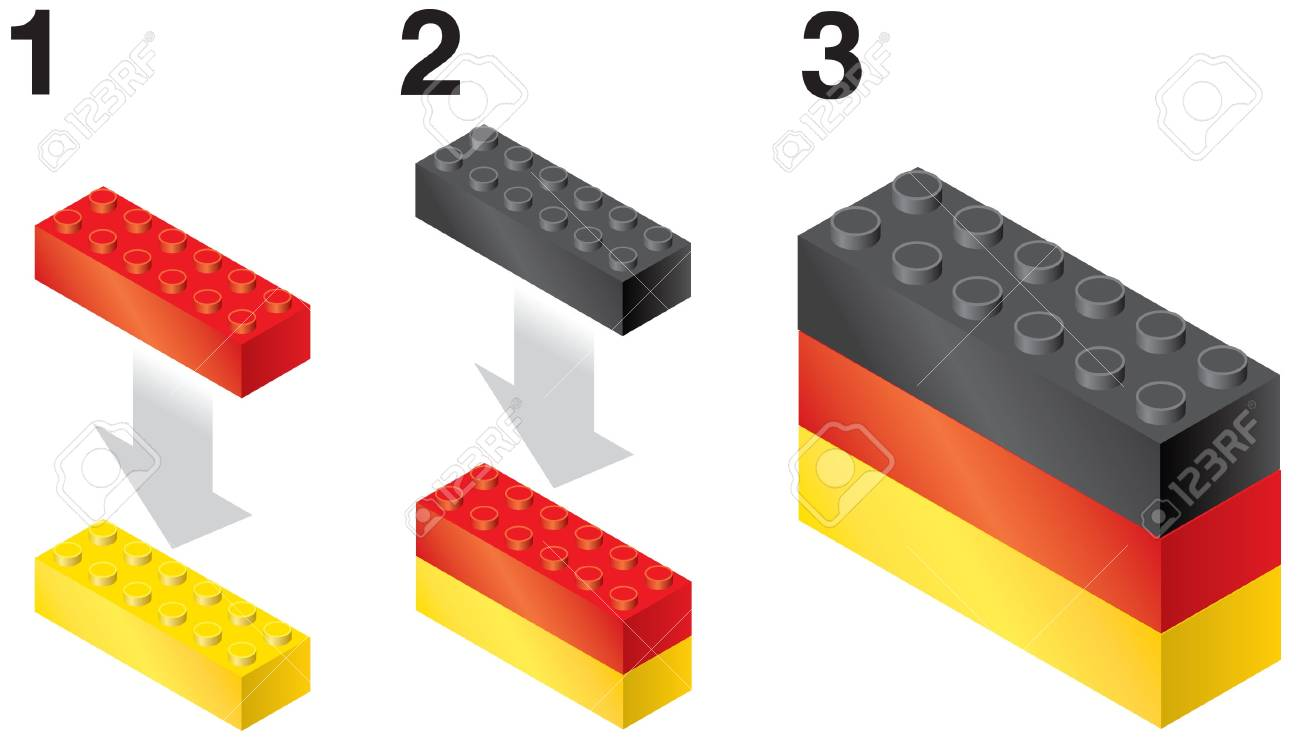 Building blocks making German Flag Stock Vector - 19342605