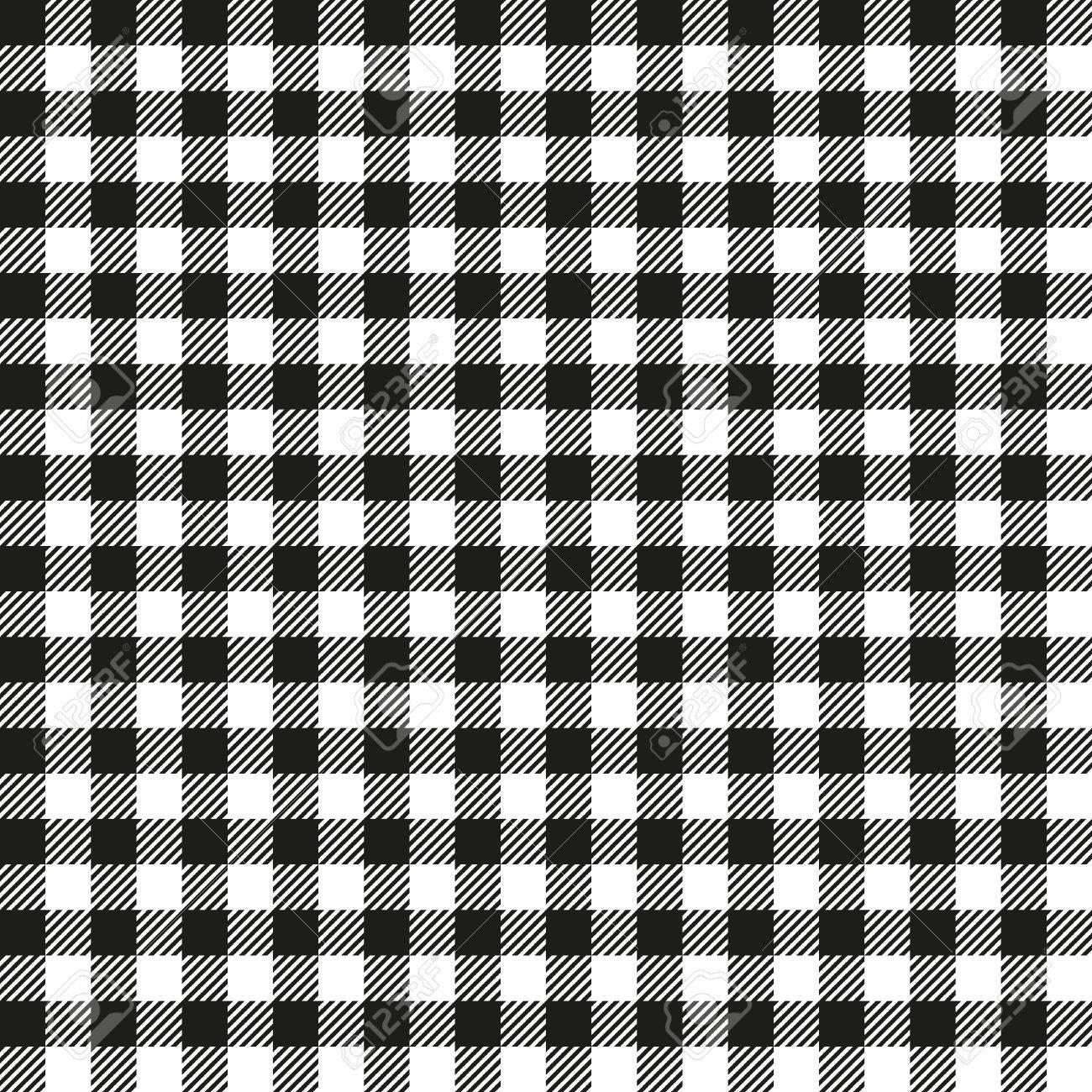 seamless coarse black checkered plaid fabric pattern texture royalty