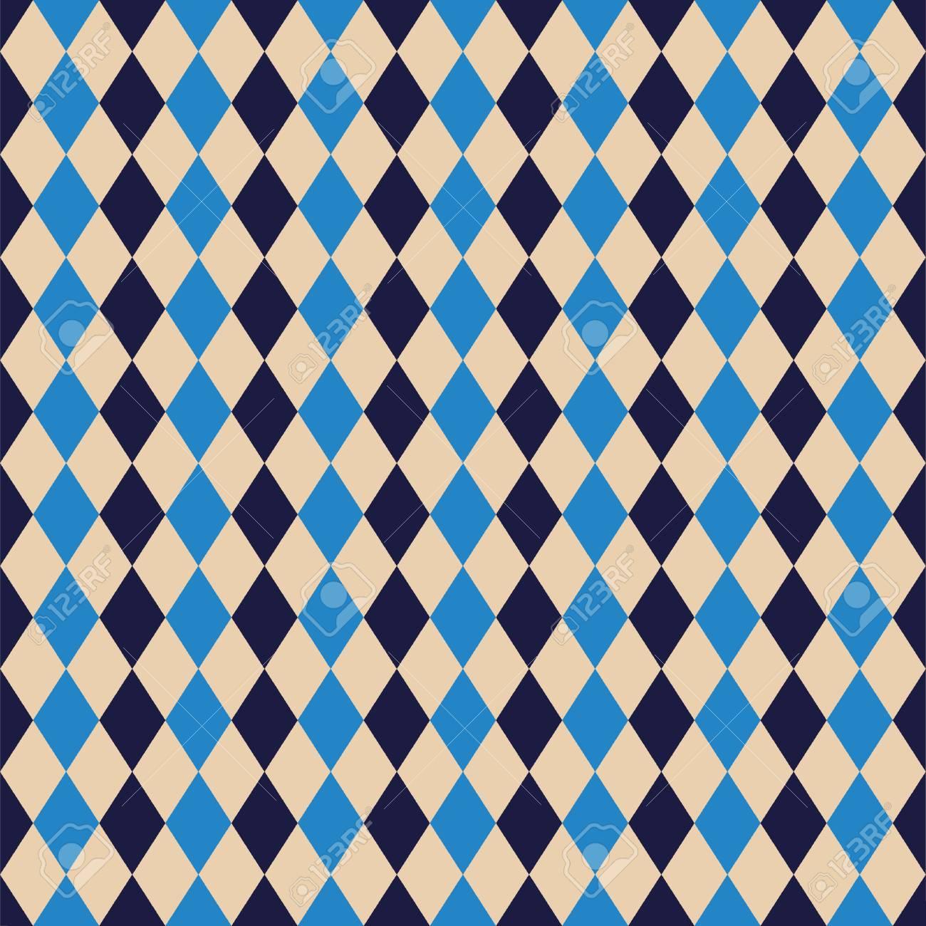 Seamless Argyle Diamond Harlequin Pattern Texture Background Wallpaper Stock Vector