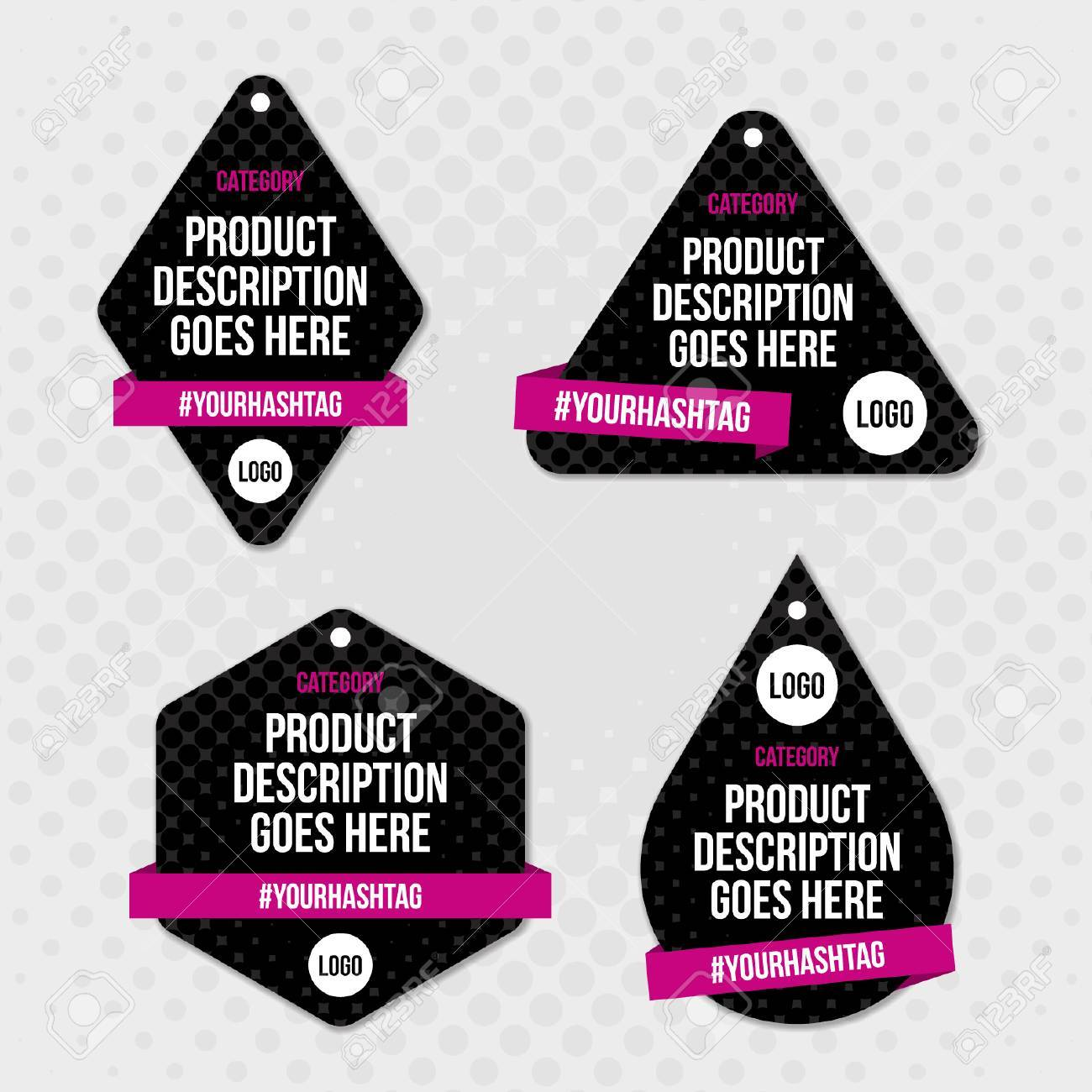 product label swing tag design royalty free cliparts vectors and