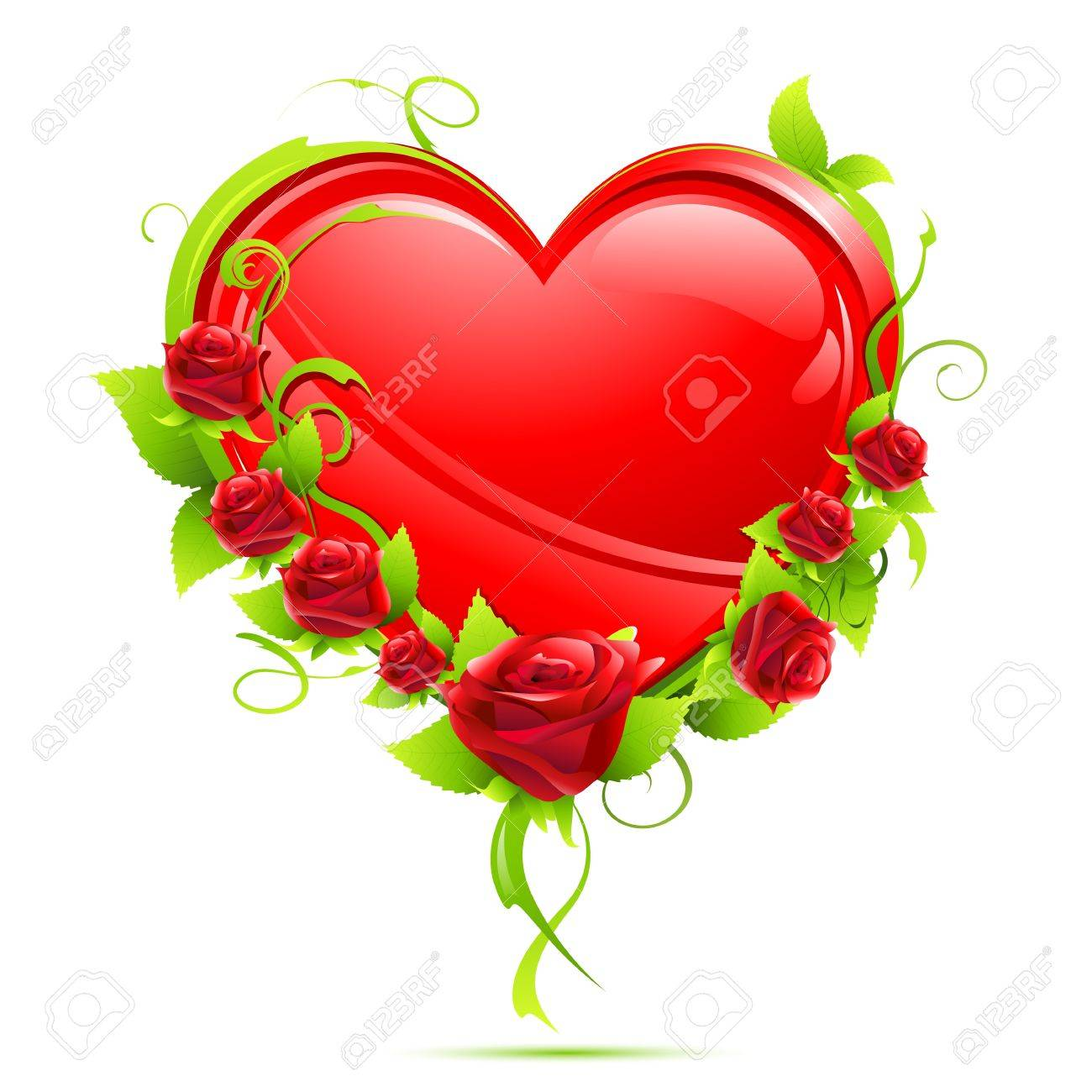 Heart with Roses Stock Vector - 8778230