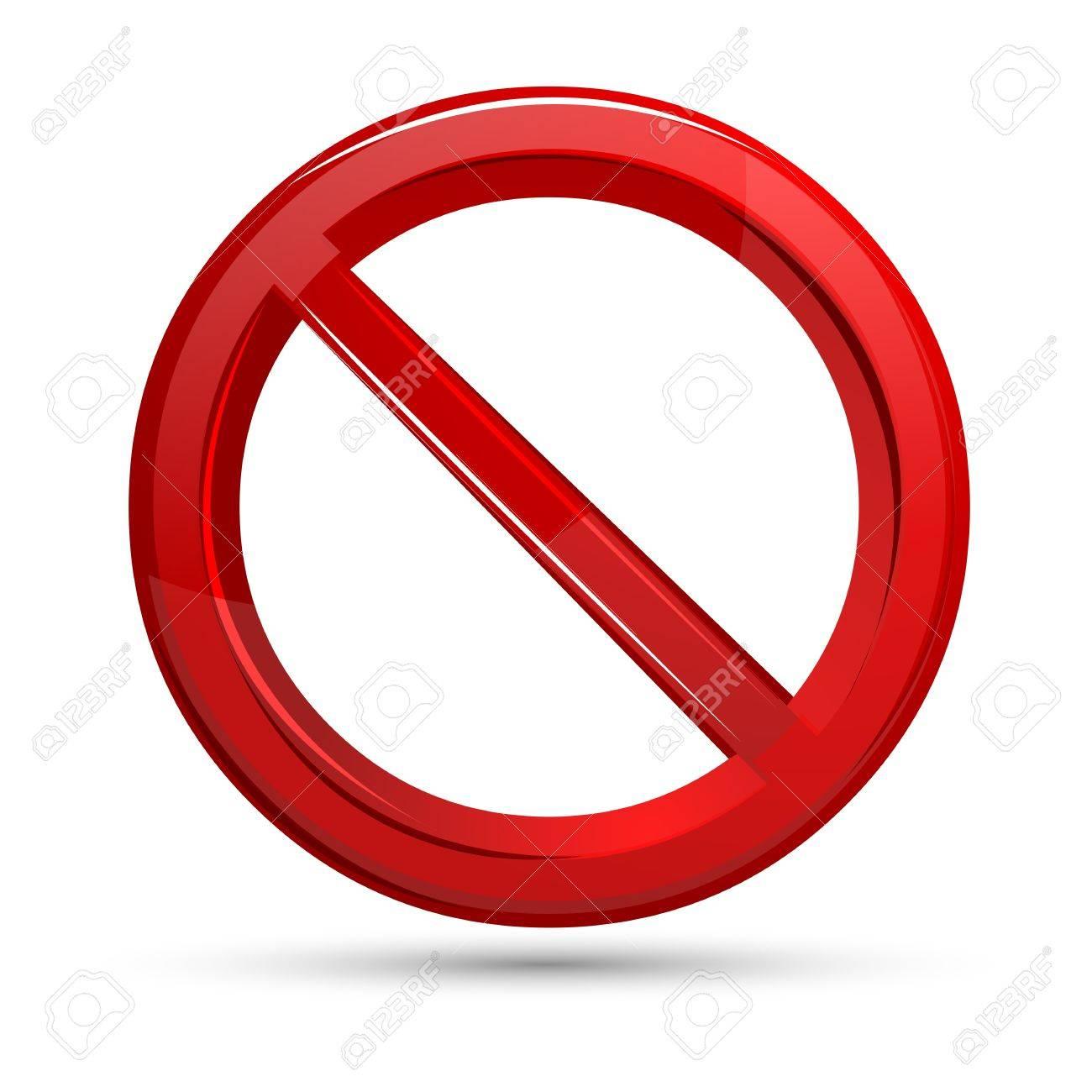 illustration of prohibited sign on isolated white background Stock Photo - 8778255