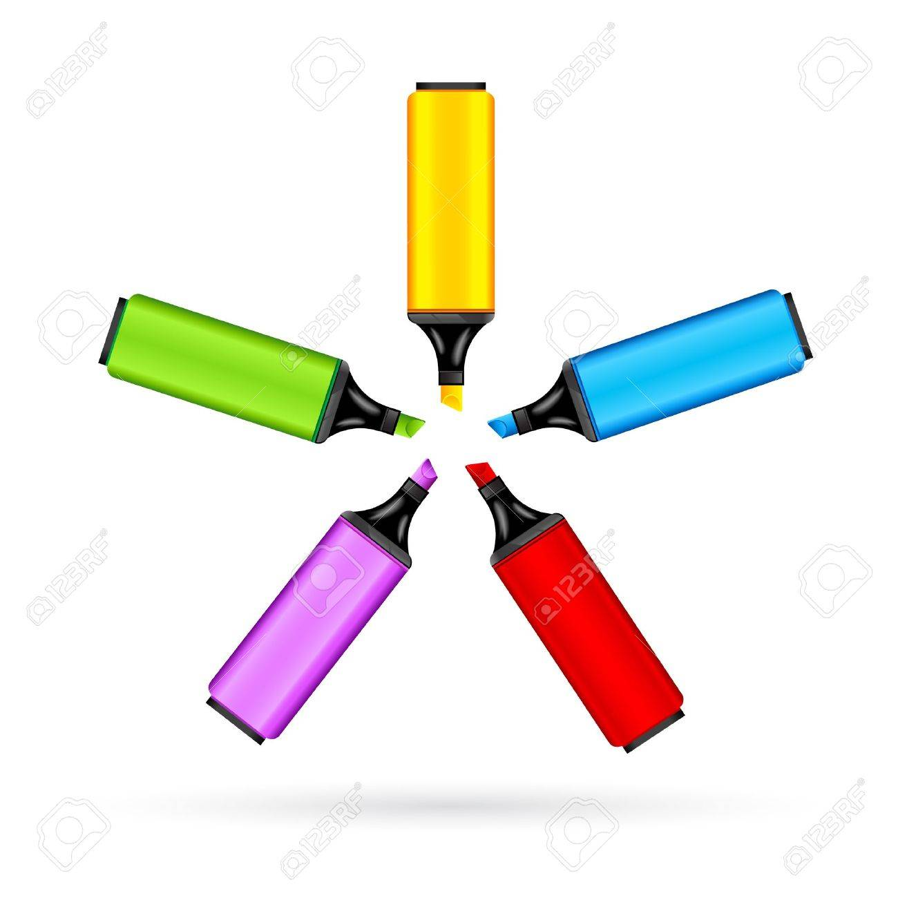 illustration of set of colorful marker on white background Stock Vector - 8920677