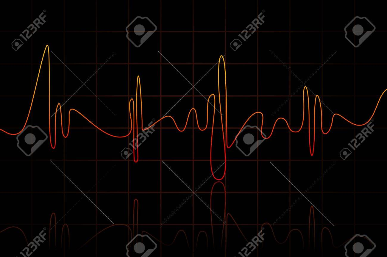 illustration of heart beats crossing heart on abstract background Stock Vector - 8977287