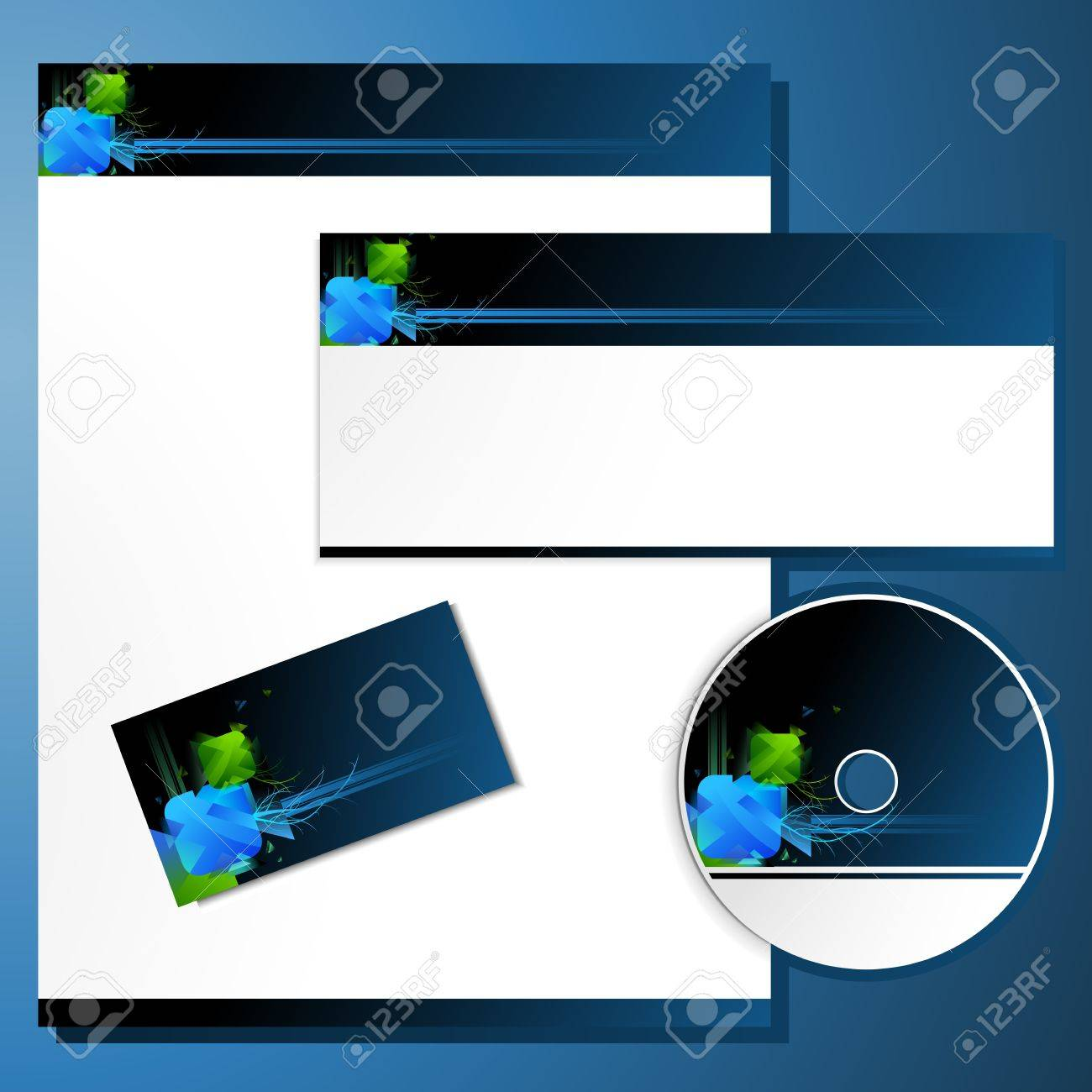 Illustration of business template with business cardcd cover illustration of business template with business cardcd cover and letter head stock vector colourmoves