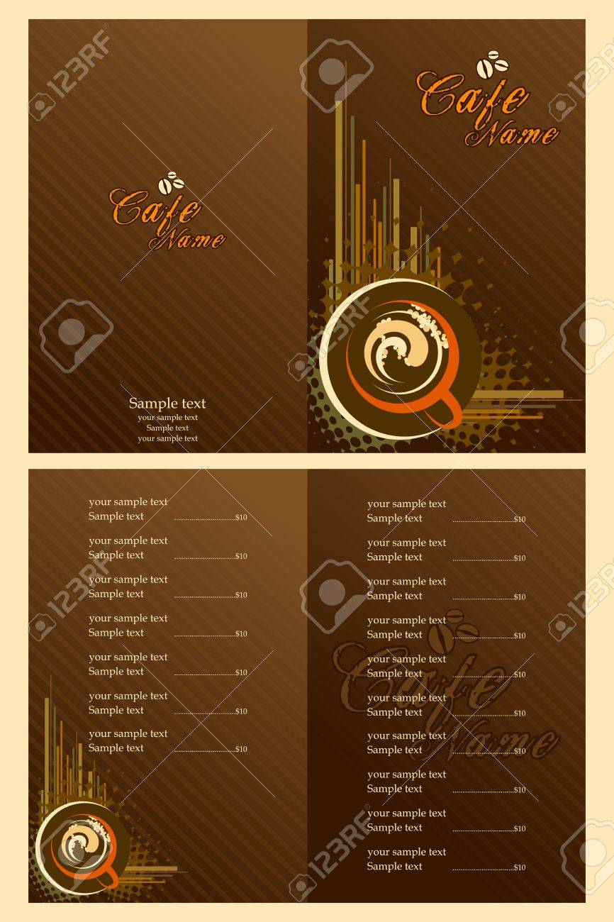 Illustration Of Set Of Menu Card Template For Cafe Royalty Free