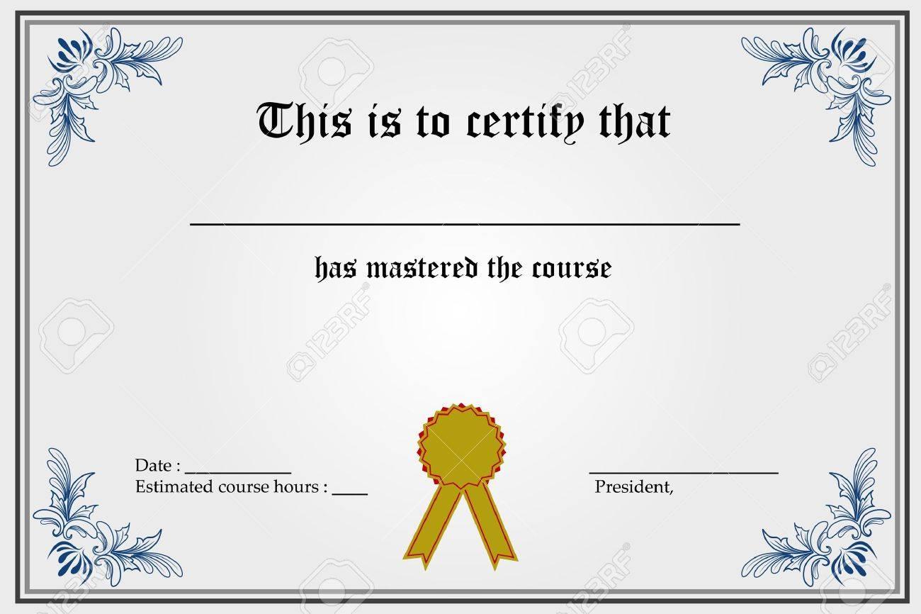 Blank Certificate March 2017 Calendar – Blank Certificates Template