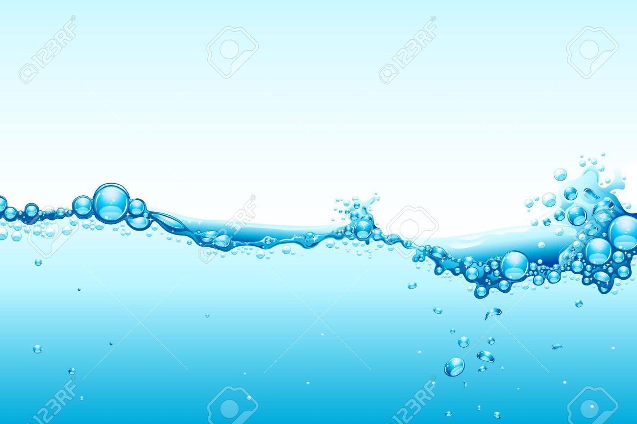 青色の背景に水のしぶきのイラスト ロイヤリティフリークリップアート