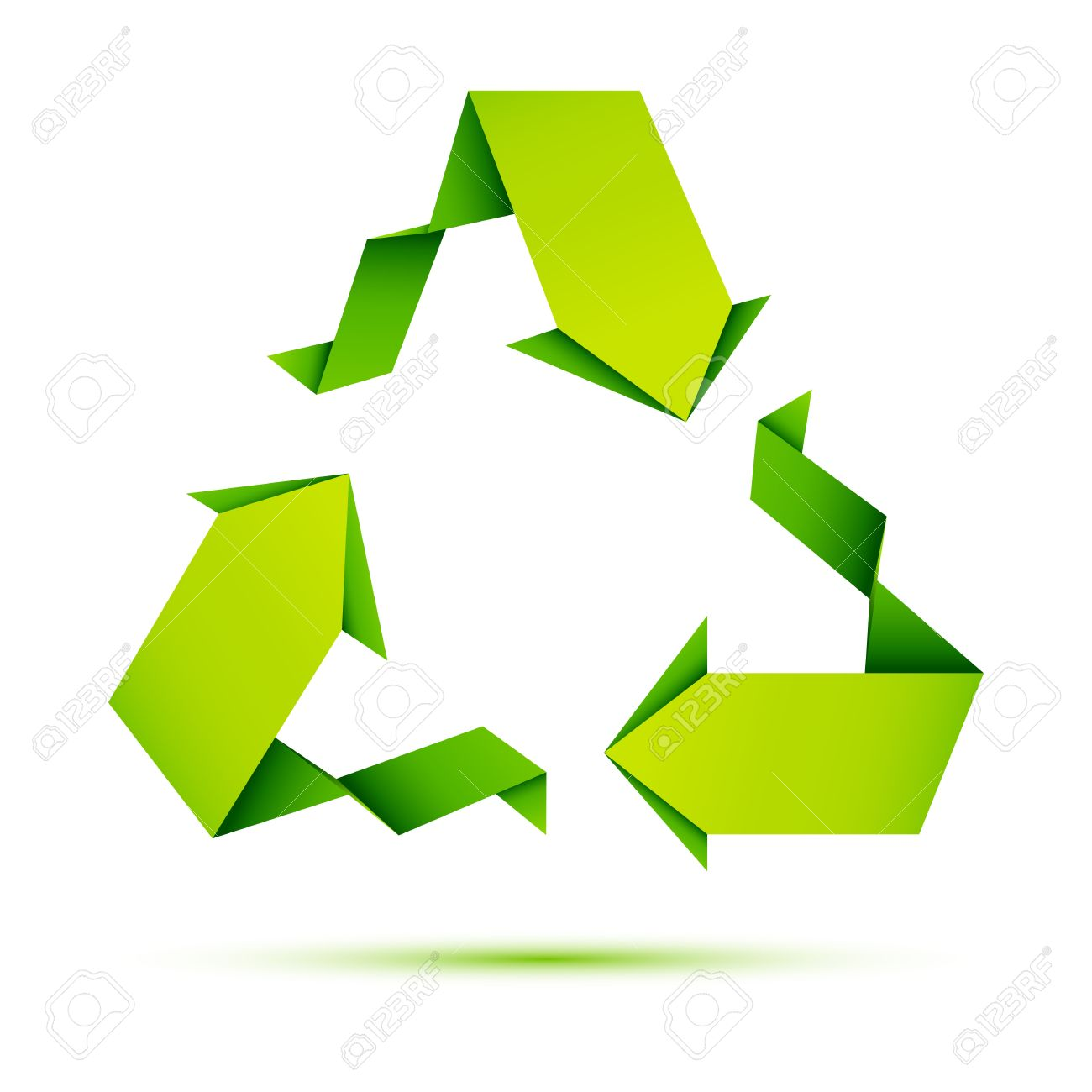 Illustration of recycle symbol made of origami paper royalty free illustration of recycle symbol made of origami paper stock vector 9424339 buycottarizona