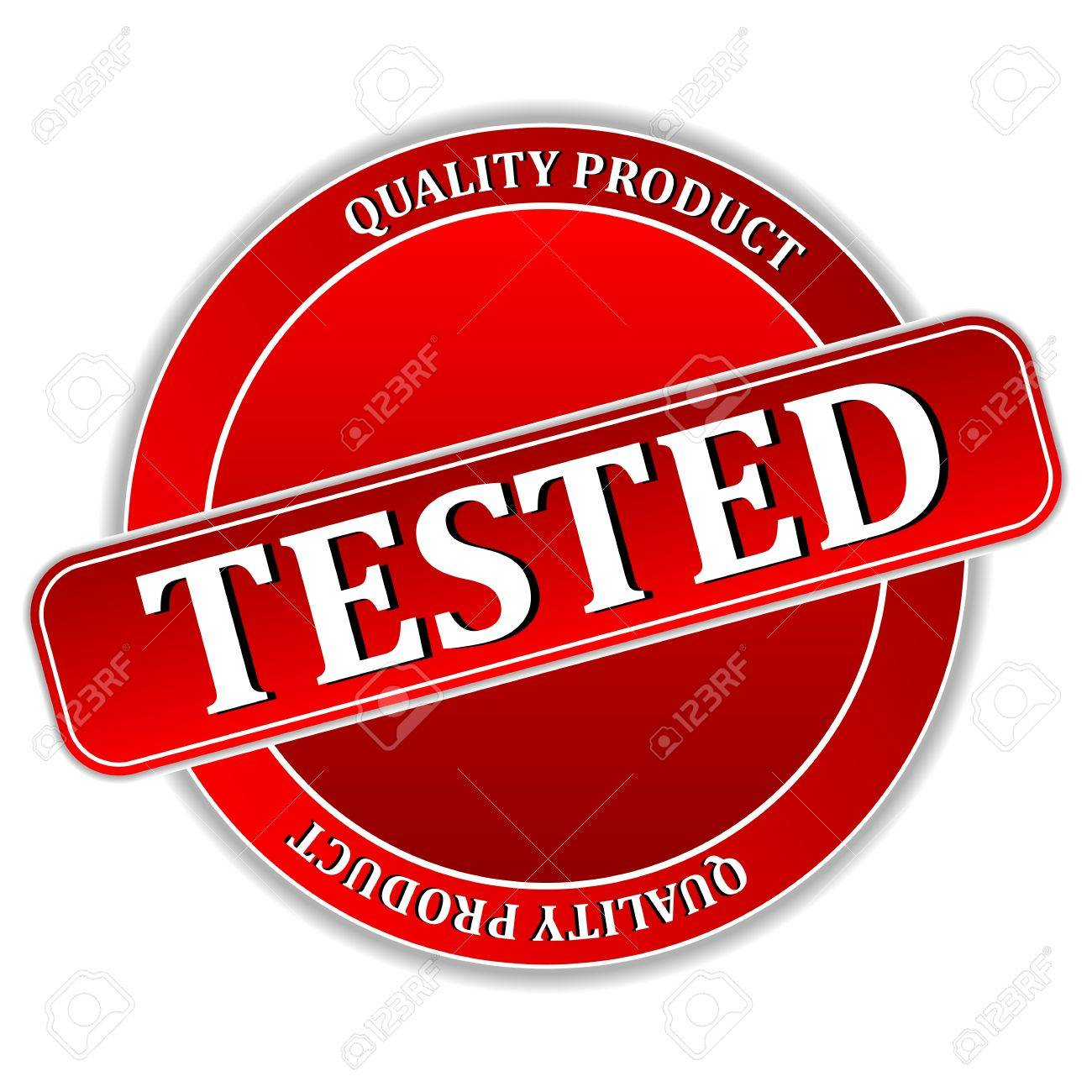 illustration of tested icon on white background Stock Vector - 9605009
