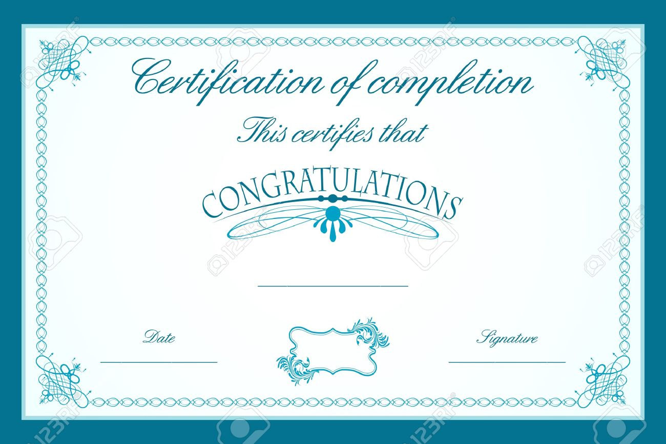 Illustration of certificate template decorated with floral frame illustration of certificate template decorated with floral frame stock vector 9736555 yelopaper Images
