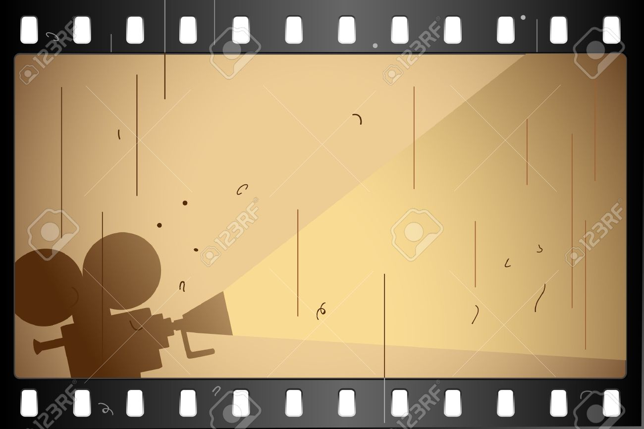 illustration of film strip frame on abstract background Stock Vector - 9777048