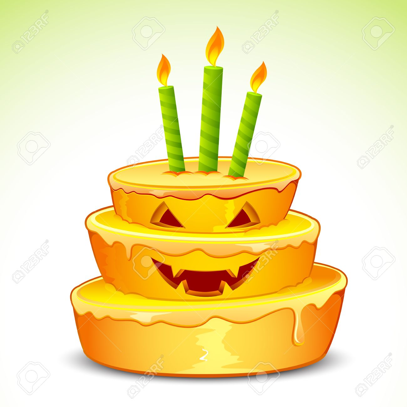 illustration of pumpkin cake for halloween with candle royalty on pumpkin birthday cake clipart
