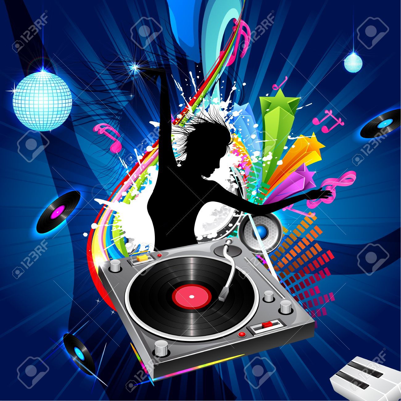 1,006 Female Dj Stock Illustrations, Cliparts And Royalty Free ...