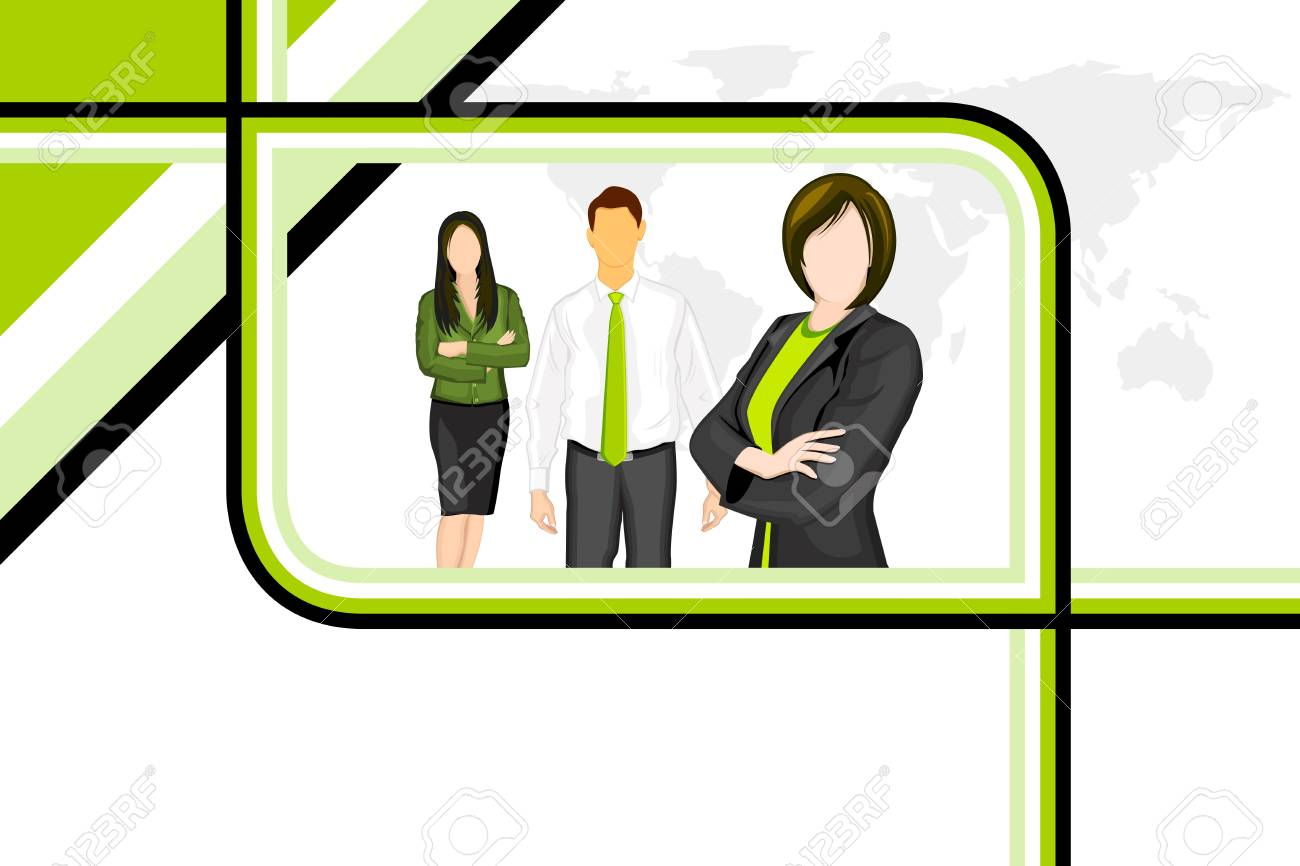 illustration of business people on abstract background Stock Illustration - 10885217