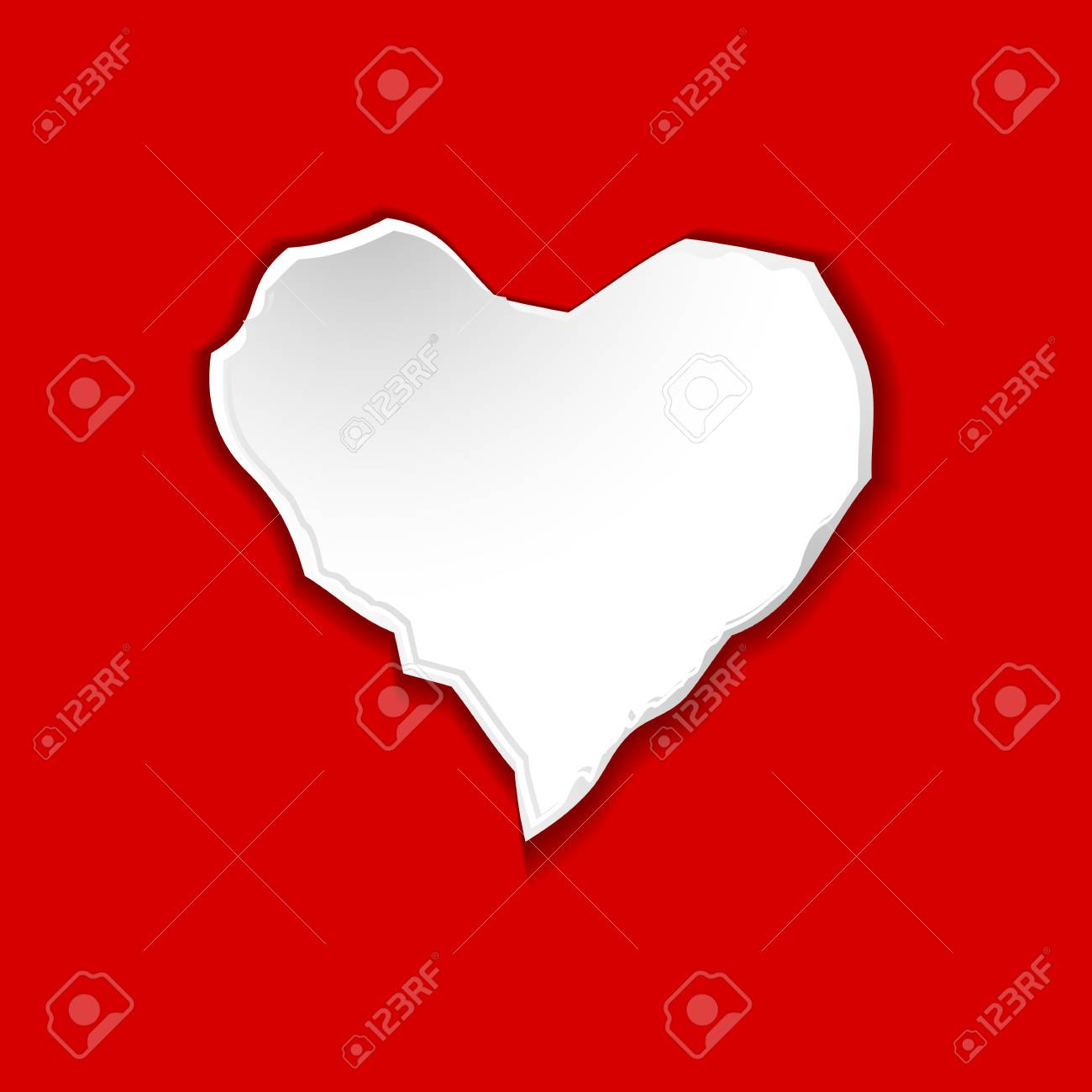 illustration of torn paper in shape of heart Stock Photo - 11275786