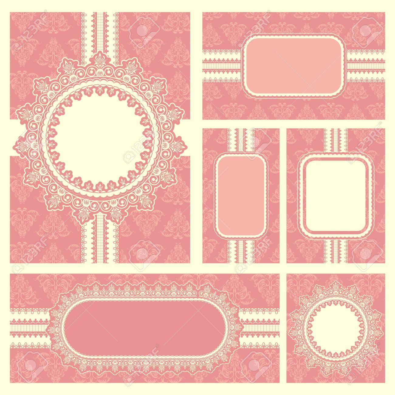 Illustration of set of wedding reception invitation card royalty illustration of set of wedding reception invitation card stock vector 11494082 stopboris Choice Image