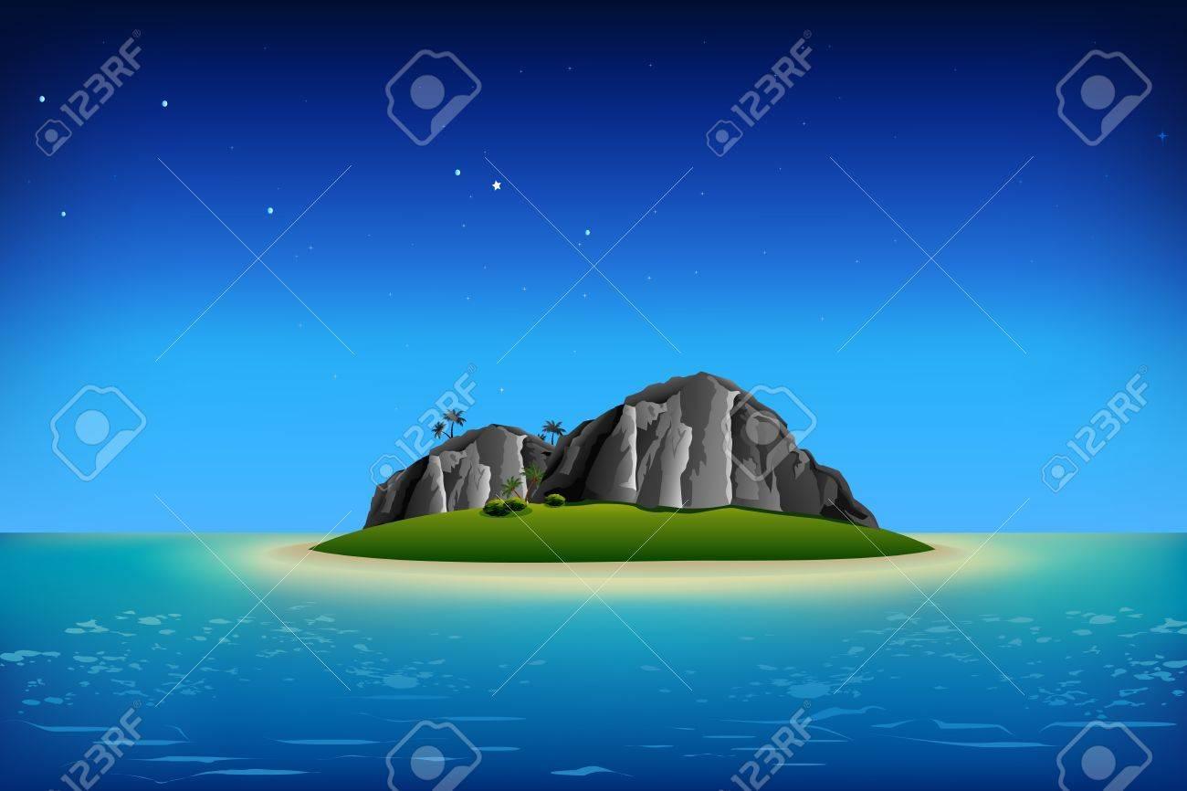 海 島 イラスト