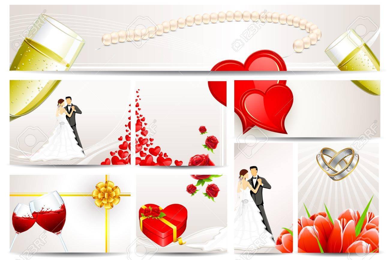 Illustration of set of wedding reception invitation card royalty illustration of set of wedding reception invitation card stock vector 11979339 stopboris Choice Image