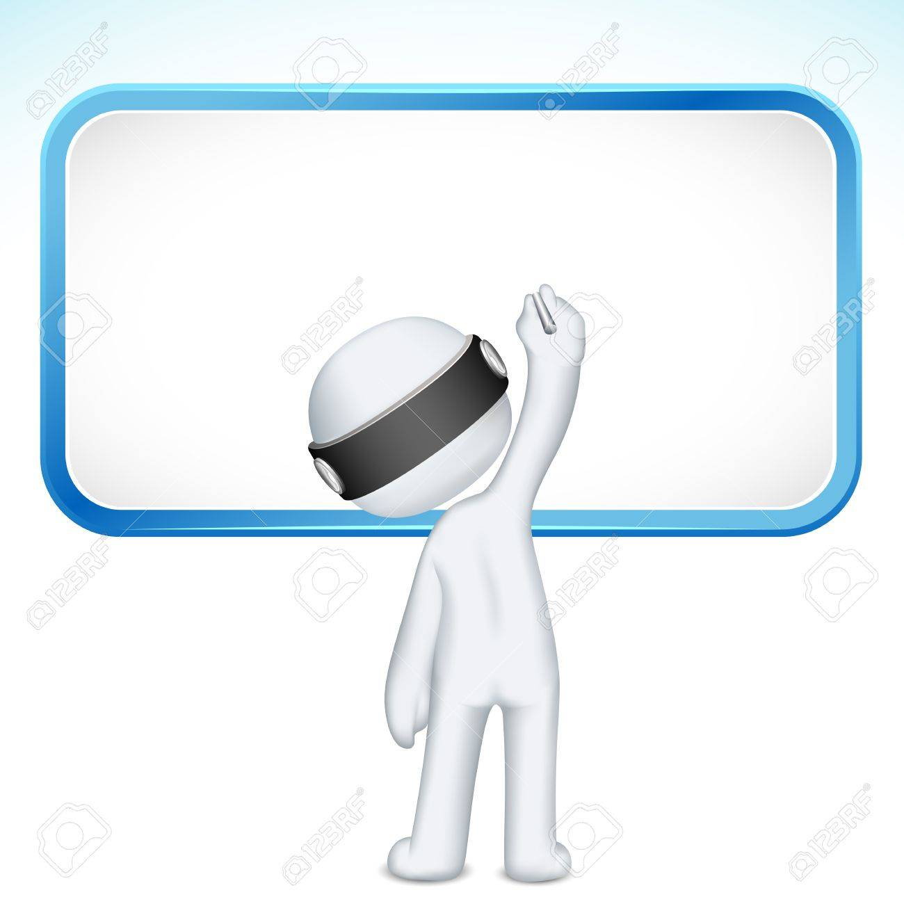 illustration of 3d man writing on board in vector fully scalable Stock Vector - 12763166