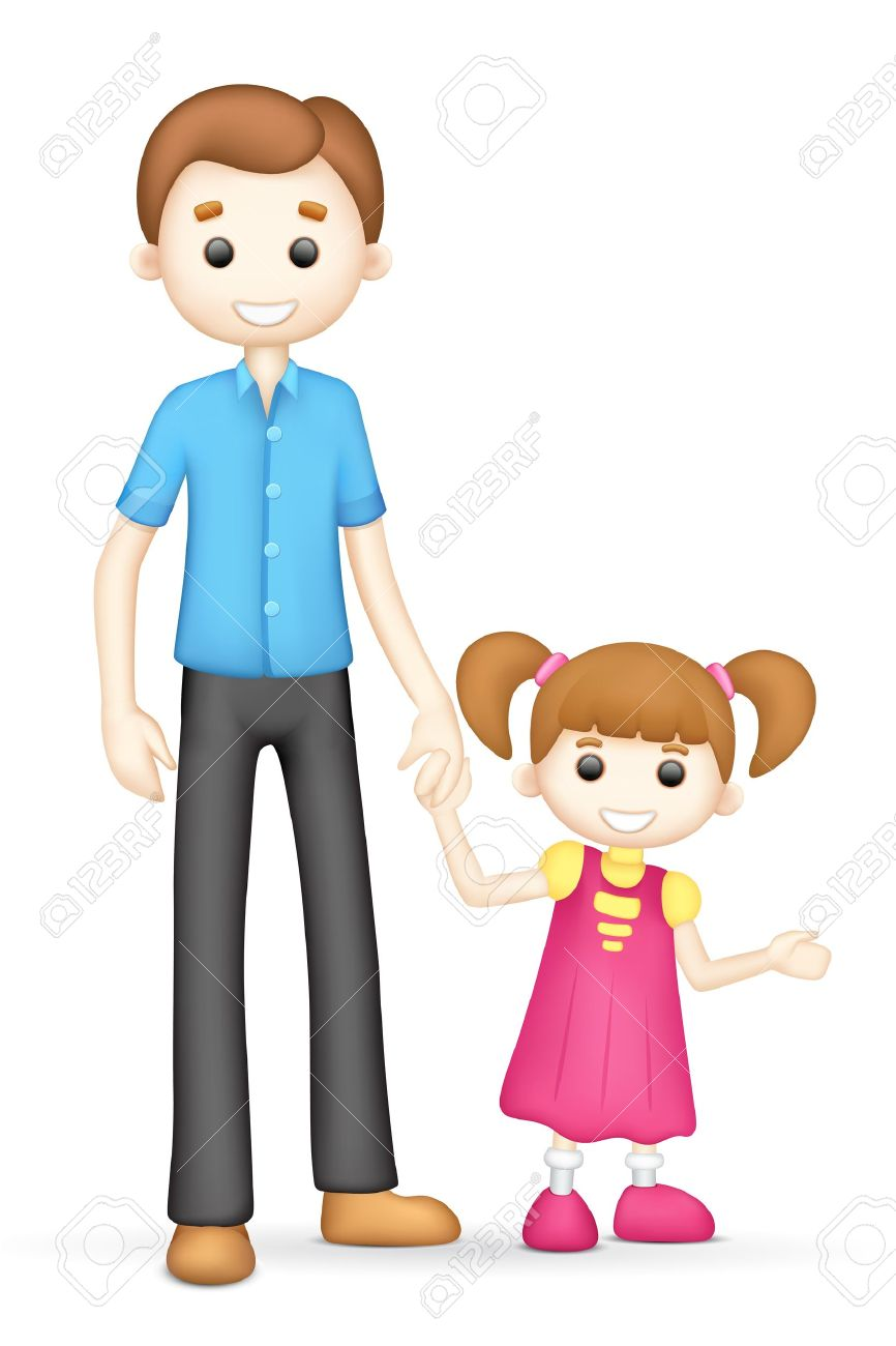 illustration of 3d father and daughter in vector fully scalable rh 123rf com father daughter clip art free free father daughter clipart