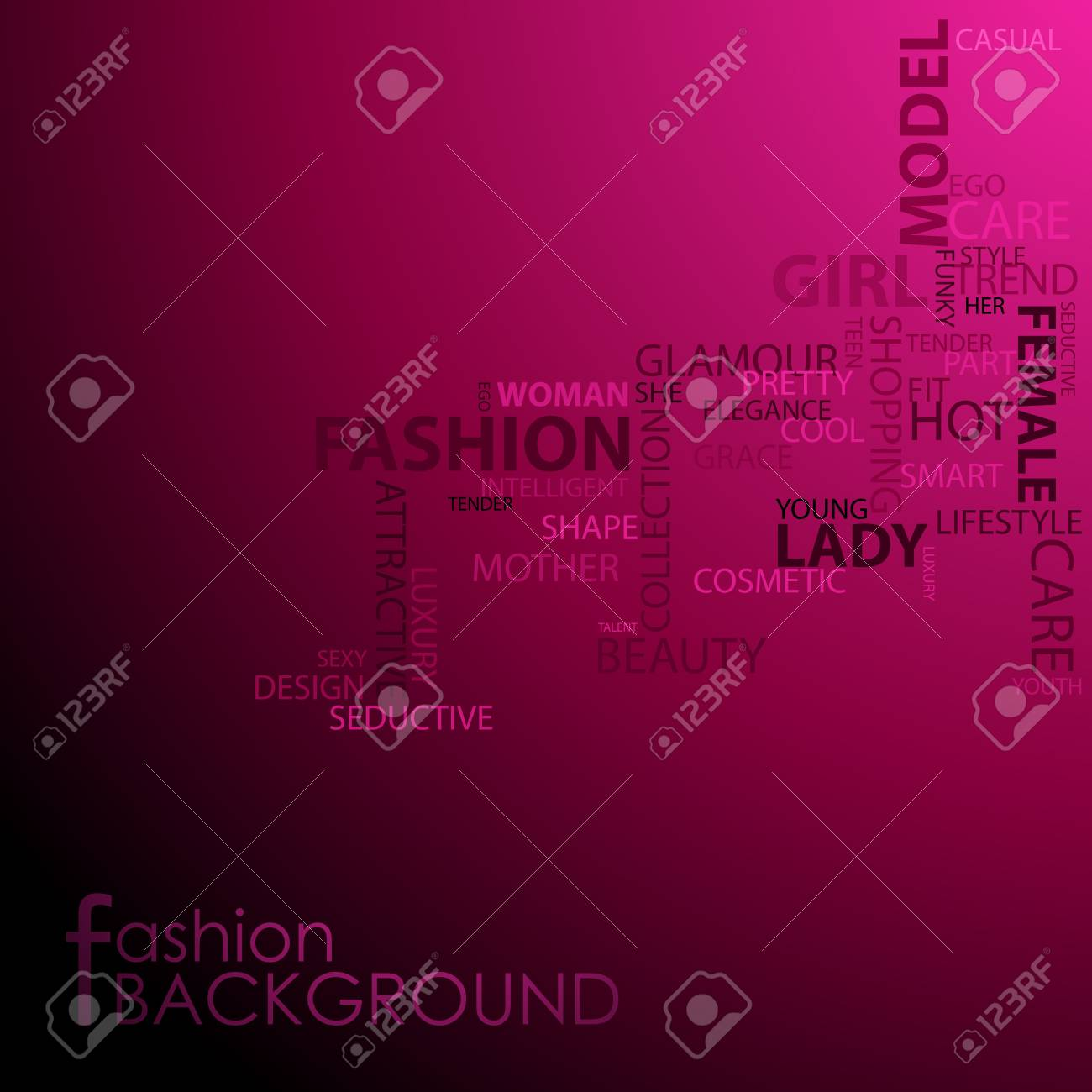 illustration of background with beauty and fashion text cloud Stock Vector - 13226771