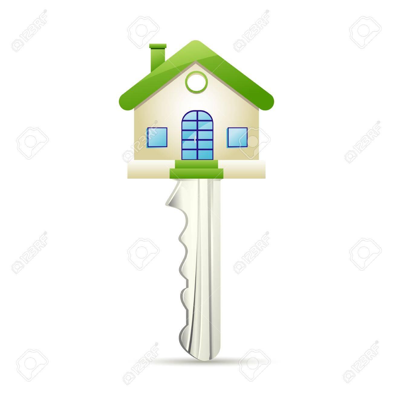 illustration of dream house key on white background Stock Vector - 13226779