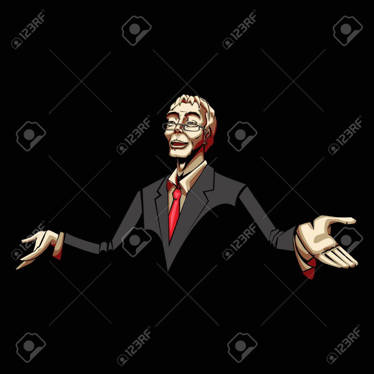 illustration of business man in pop art style Stock Vector - 13475330