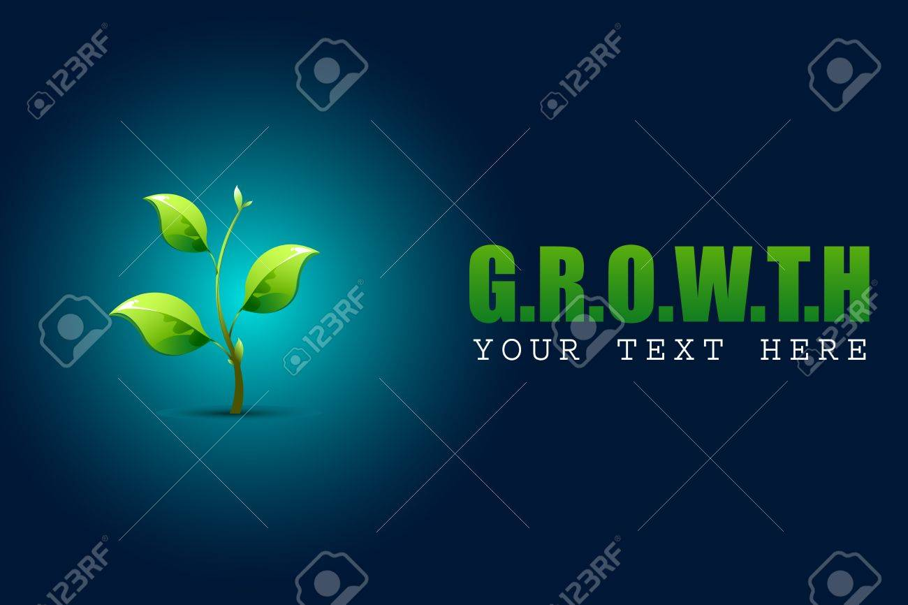 illustration of growing sapling plant in growth concept background Stock Vector - 13475397