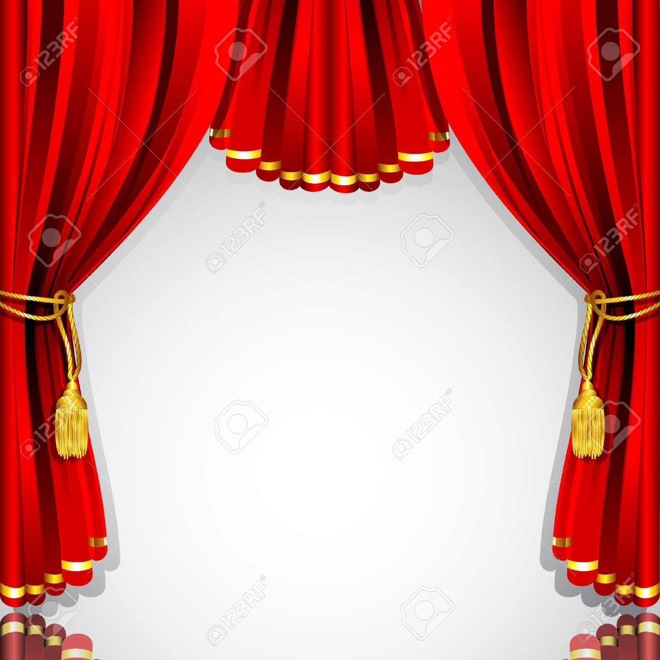 Theatre curtains png - Red Curtain Background Seamless Curtain Design Illustration Of Red Stage Curtain Drape On White Background