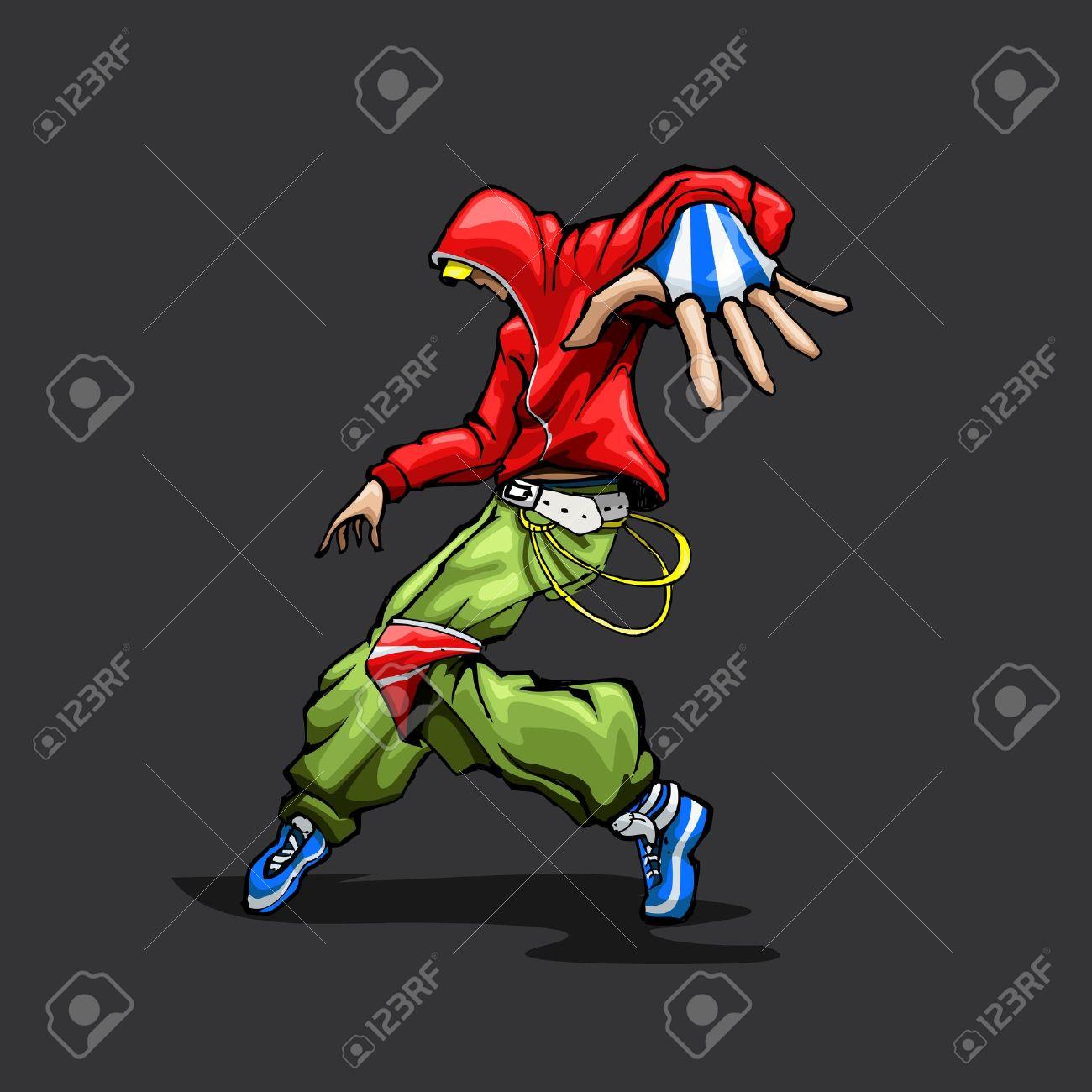 illustration of trendy guy in dancing pose Stock Vector - 13821103
