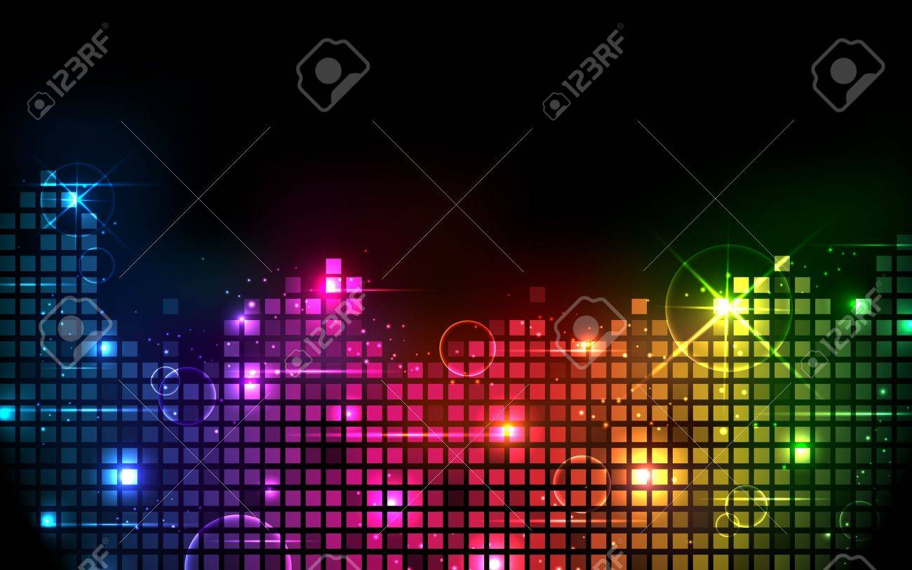 illustration of colorful musical bar showing volume on black background Stock Vector - 14126089