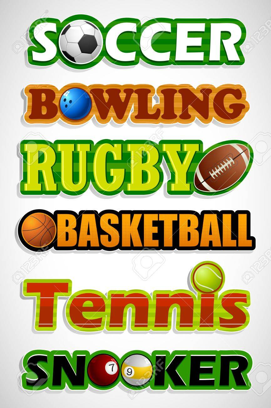 illustration of sticker for different sports with ball Stock Vector - 14533715