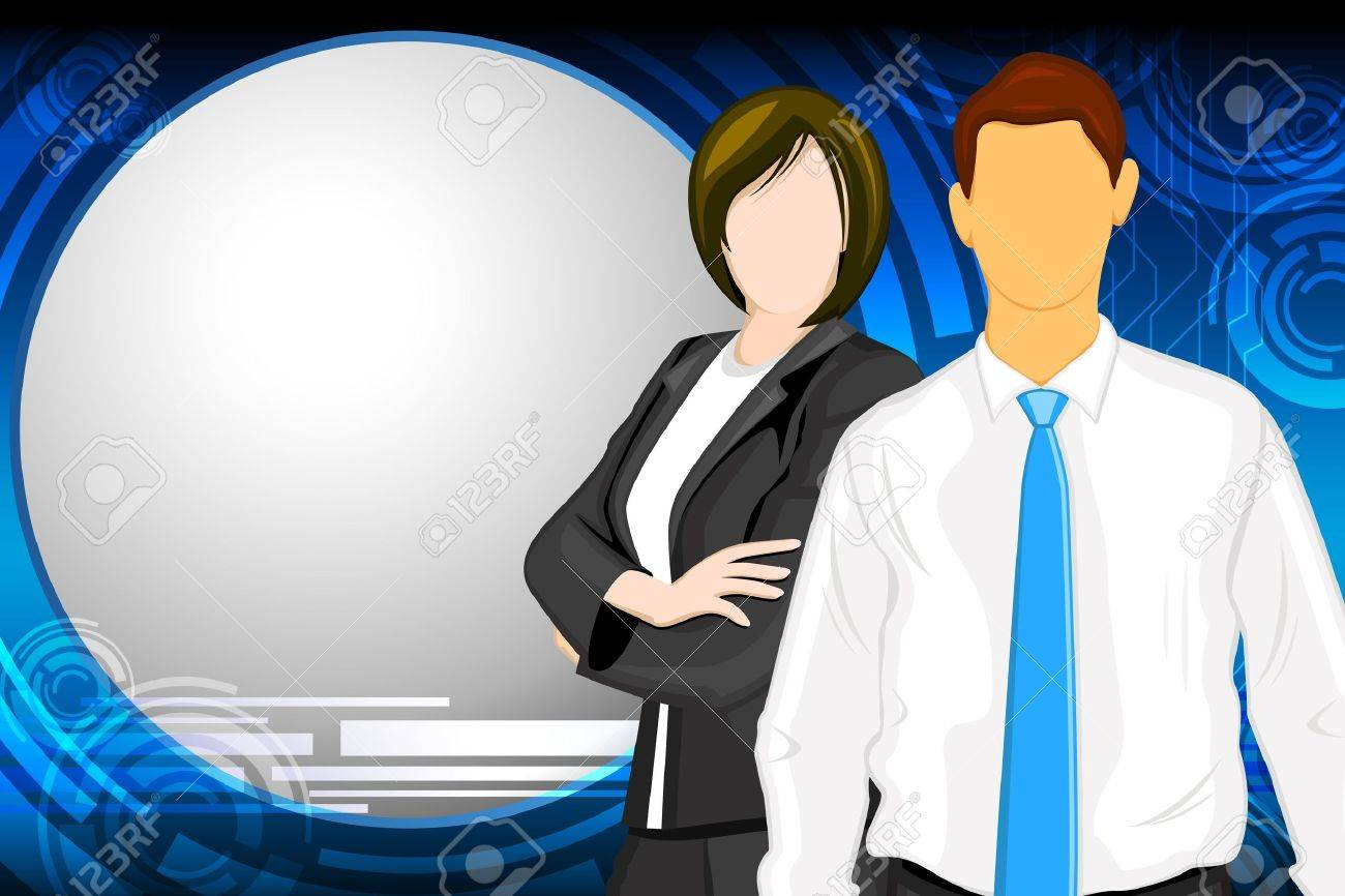 illustration of business people on abstract background Stock Vector - 15632178